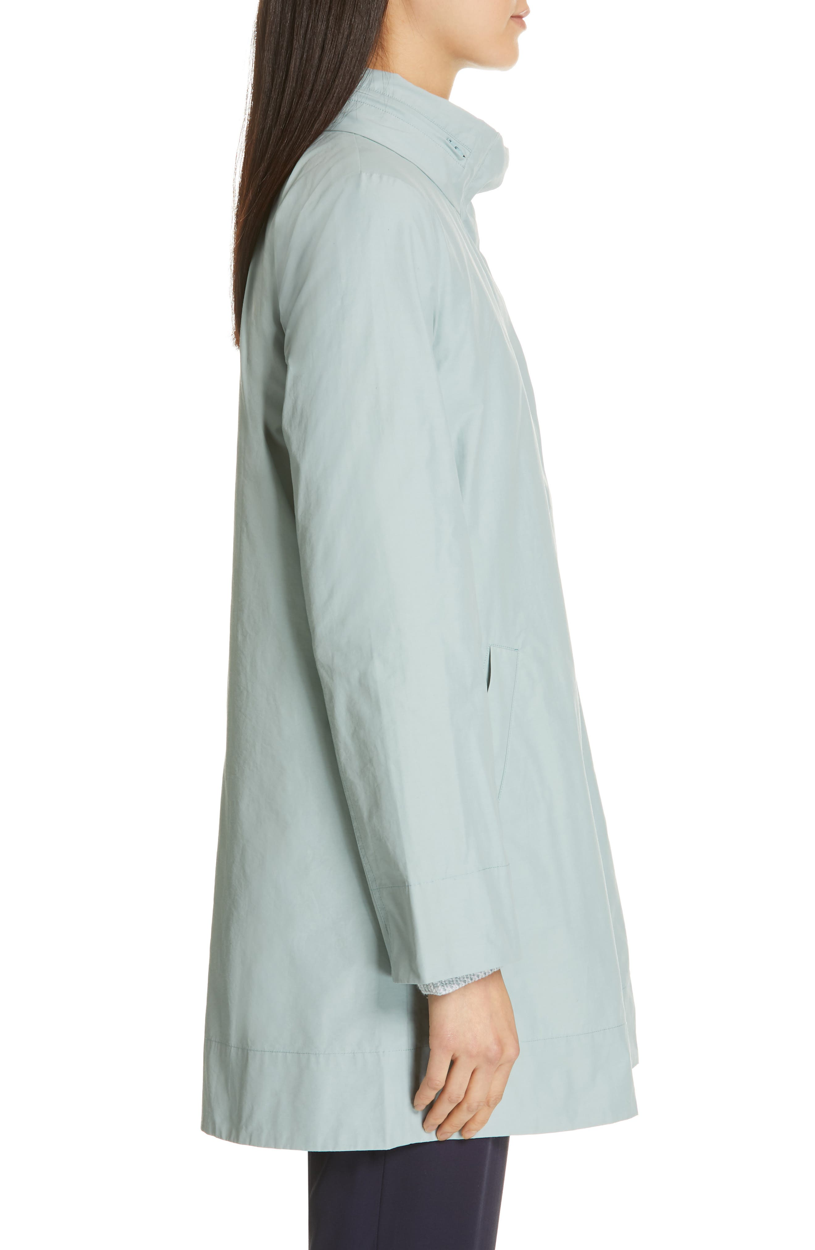 EILEEN FISHER,                             A-Line Jacket,                             Alternate thumbnail 4, color,                             BLUE IVY