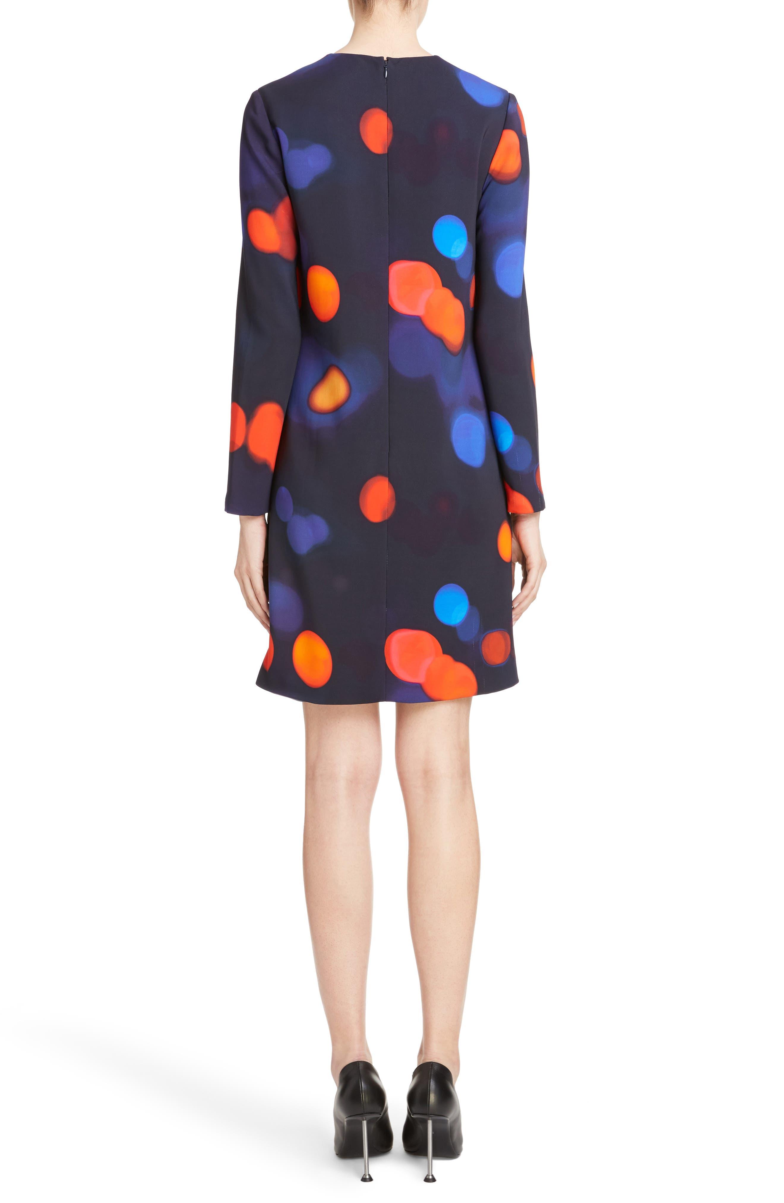 Print Shift Dress,                             Alternate thumbnail 2, color,                             400