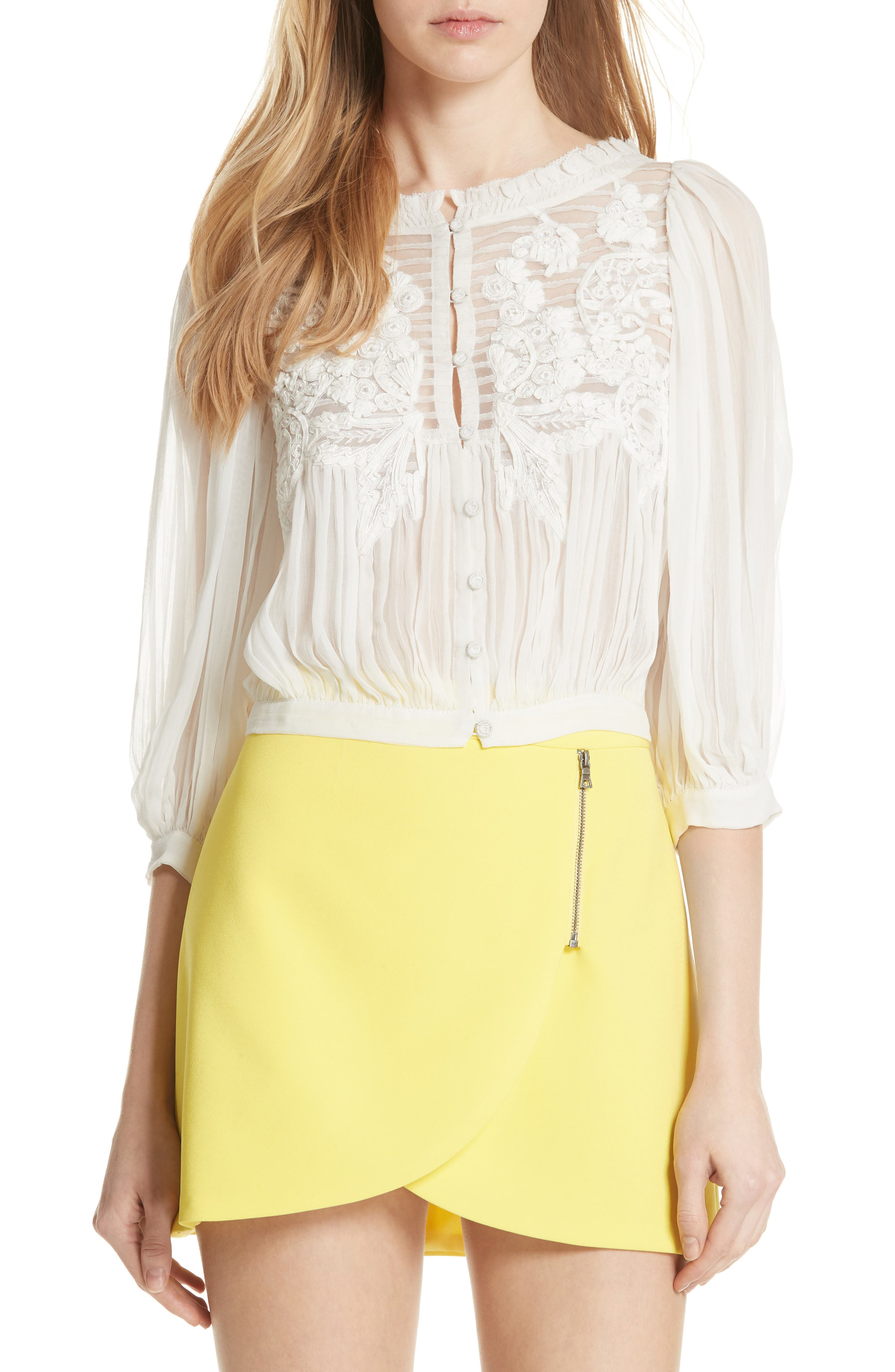 Lavone Embroidered Blouson Top,                         Main,                         color,