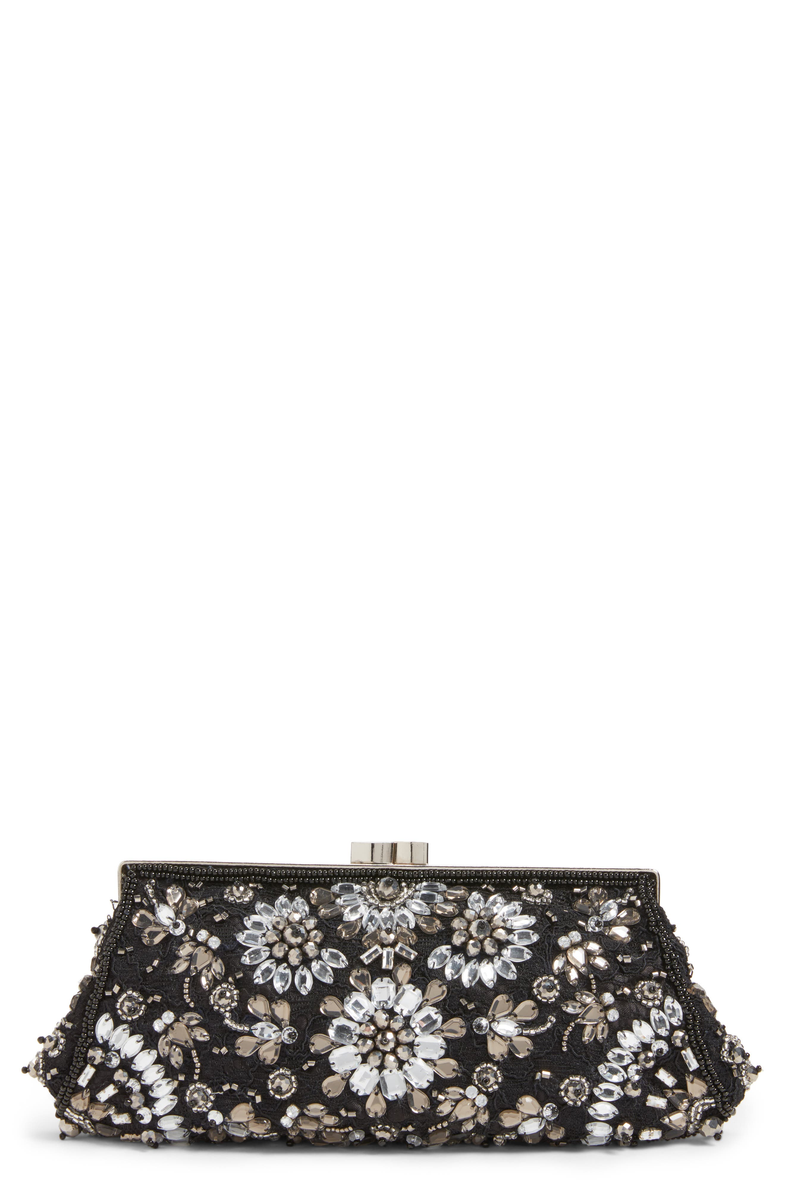 Crystal Embellished Clutch,                             Main thumbnail 1, color,