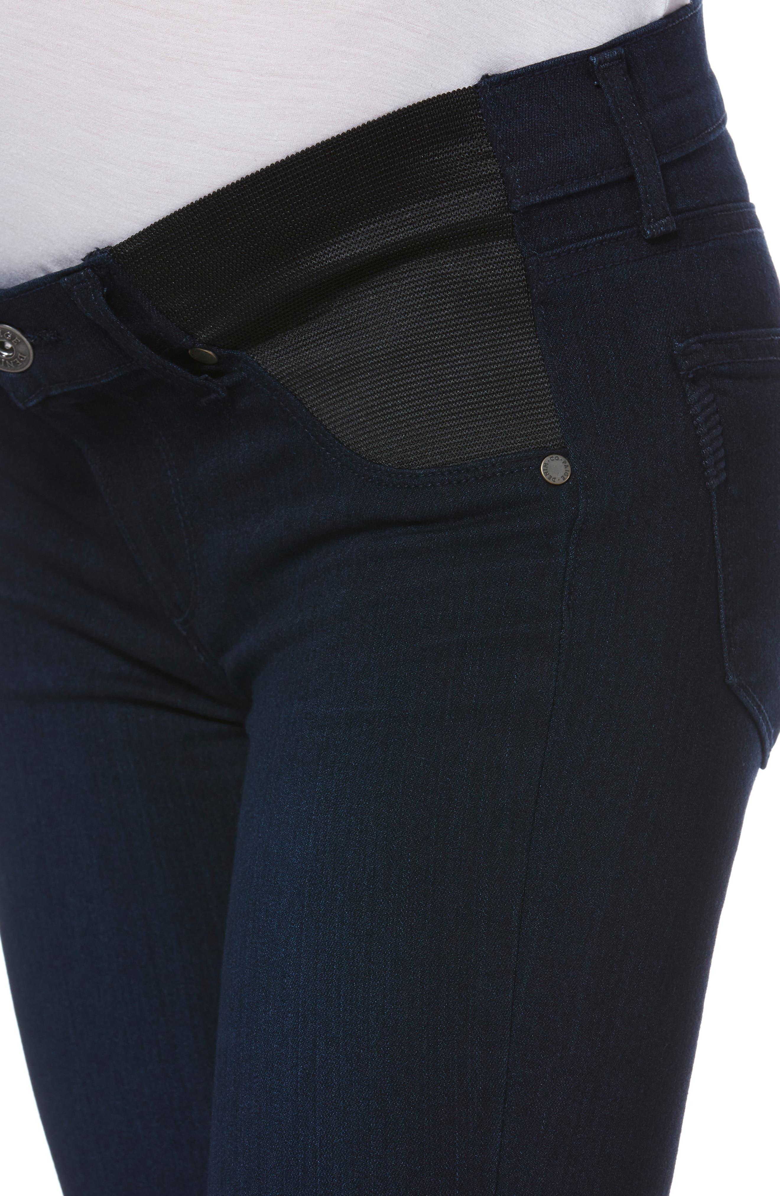 PAIGE,                             Transcend - Verdugo Ultra Skinny Maternity Jeans,                             Alternate thumbnail 4, color,                             LANA