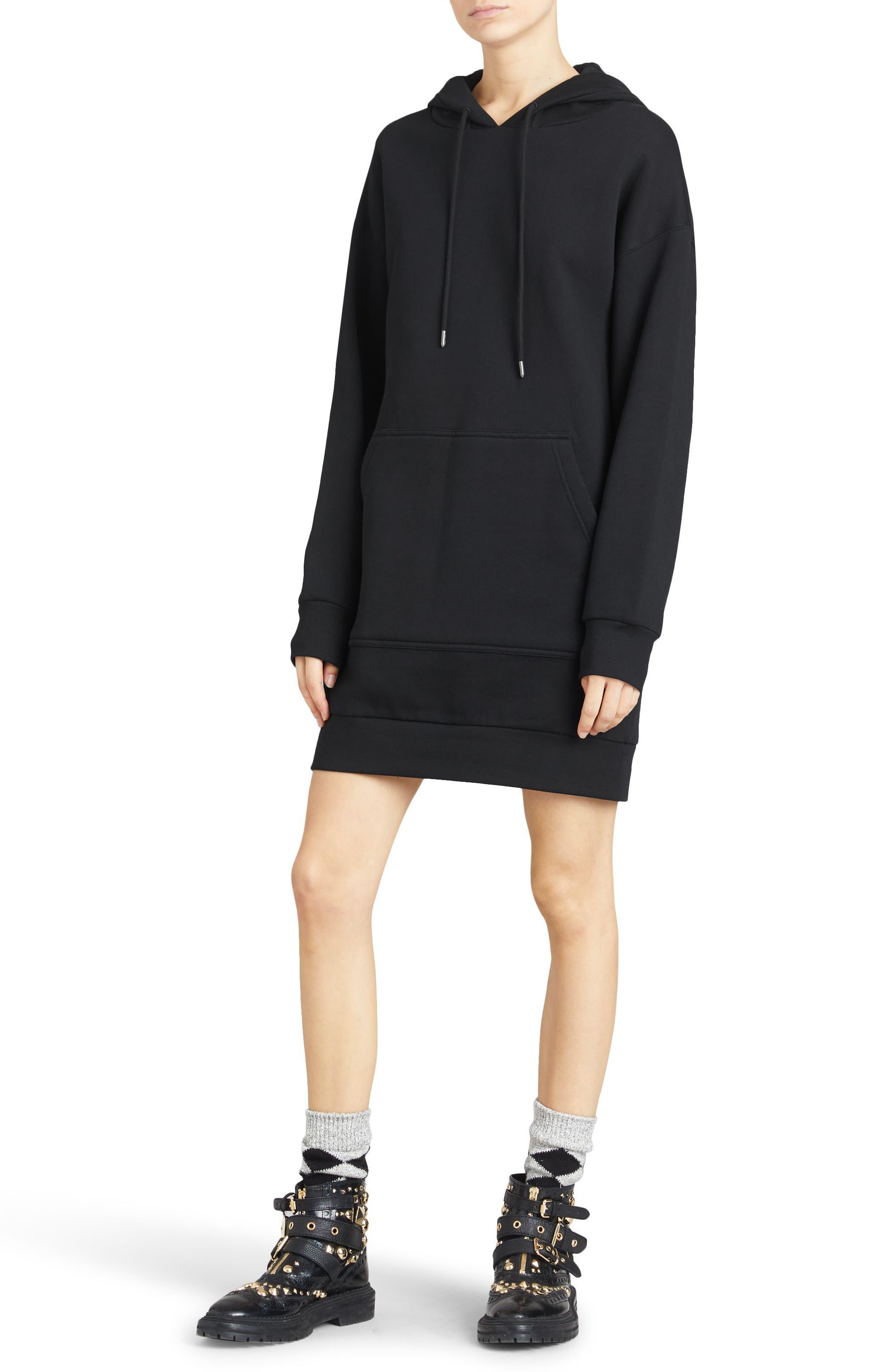 Cardeiver Jersey Sweatshirt Dress,                             Alternate thumbnail 5, color,                             001