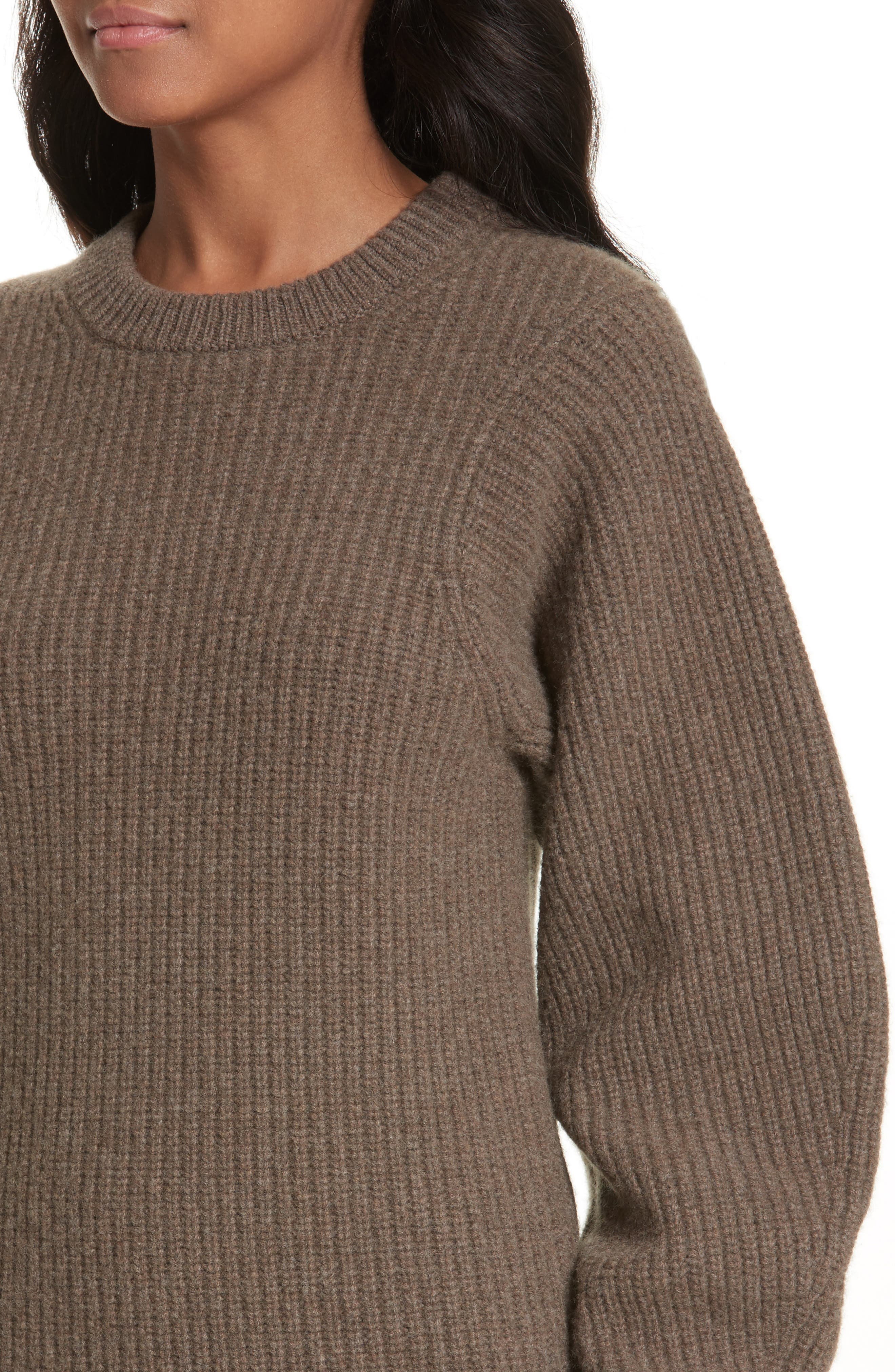 Blouson Sleeve Wool Sweater,                             Alternate thumbnail 4, color,                             346