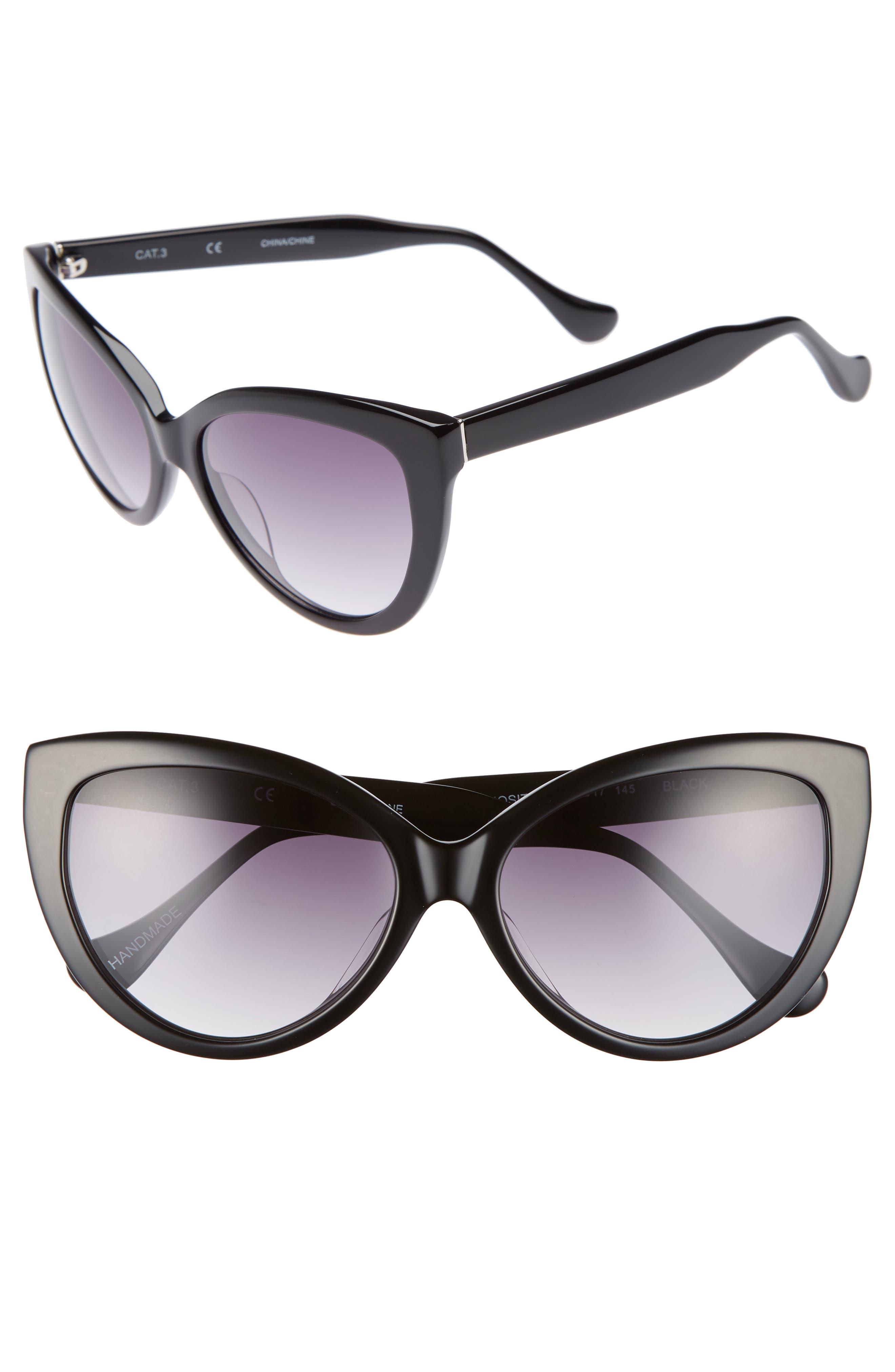 Curiosity 59mm Cat Eye Sunglasses,                             Main thumbnail 1, color,