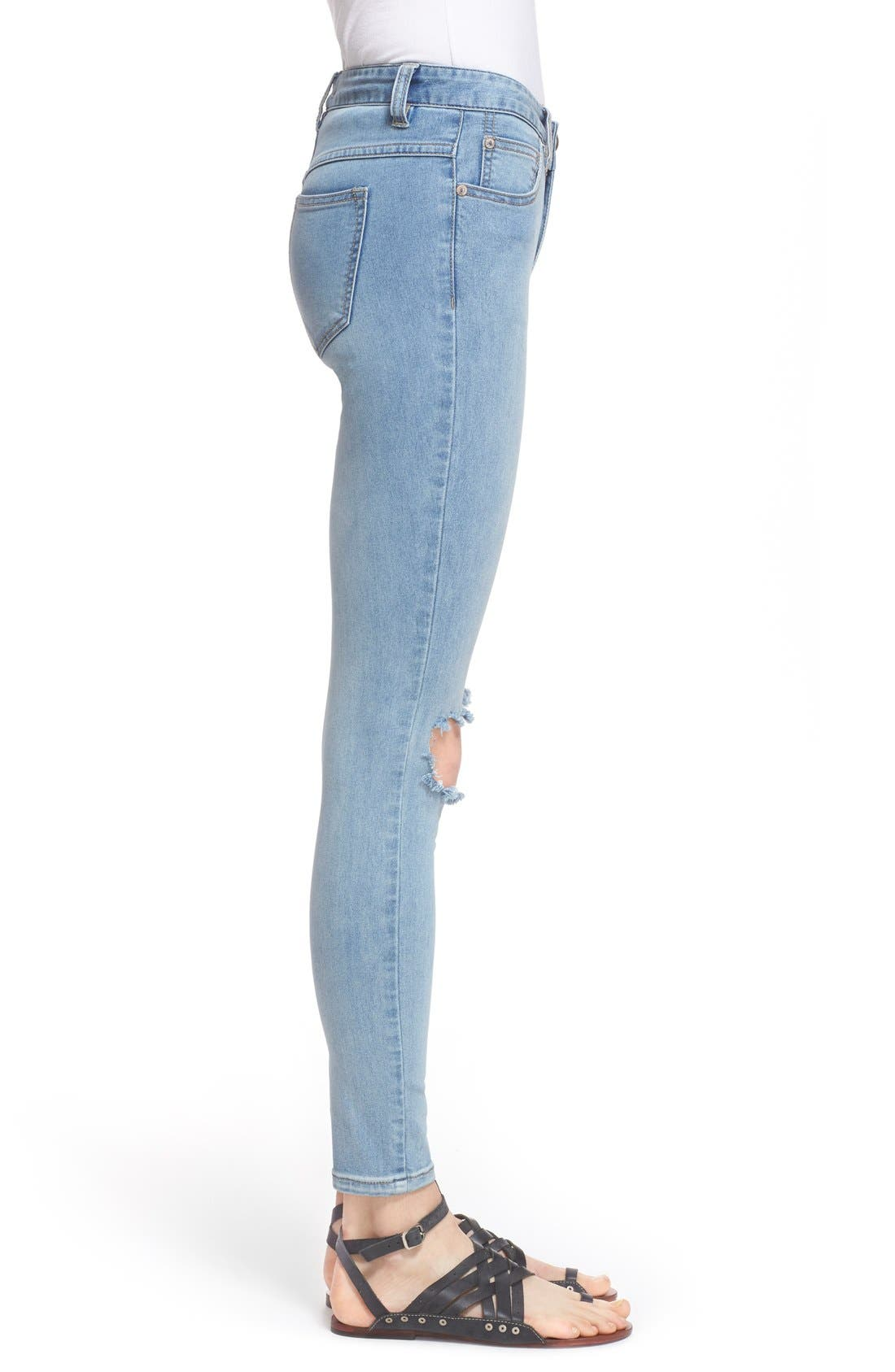 Destroyed Skinny Jeans,                             Alternate thumbnail 2, color,                             400