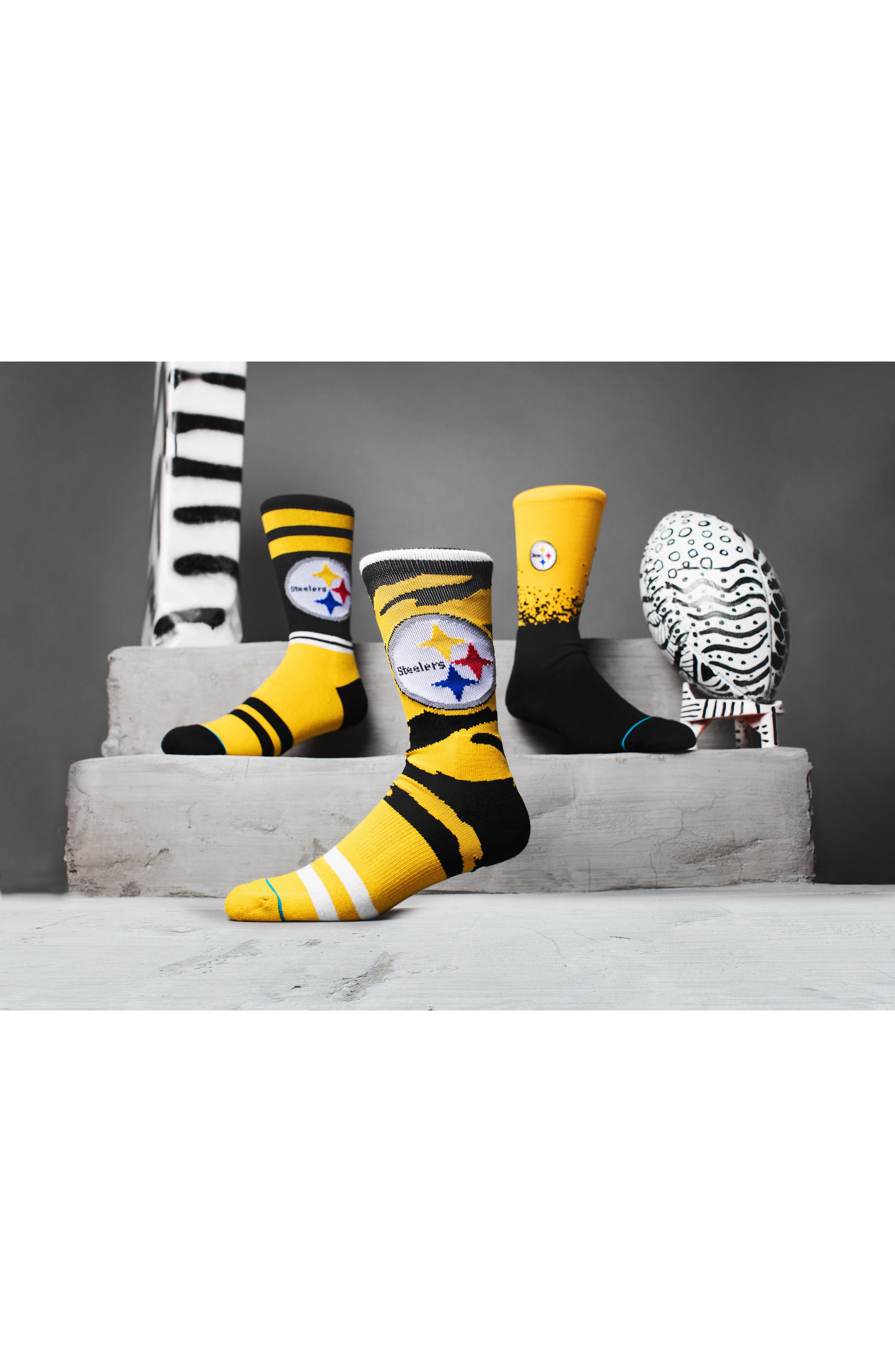 Pittsburgh Steelers - Fade Socks,                             Alternate thumbnail 4, color,                             700