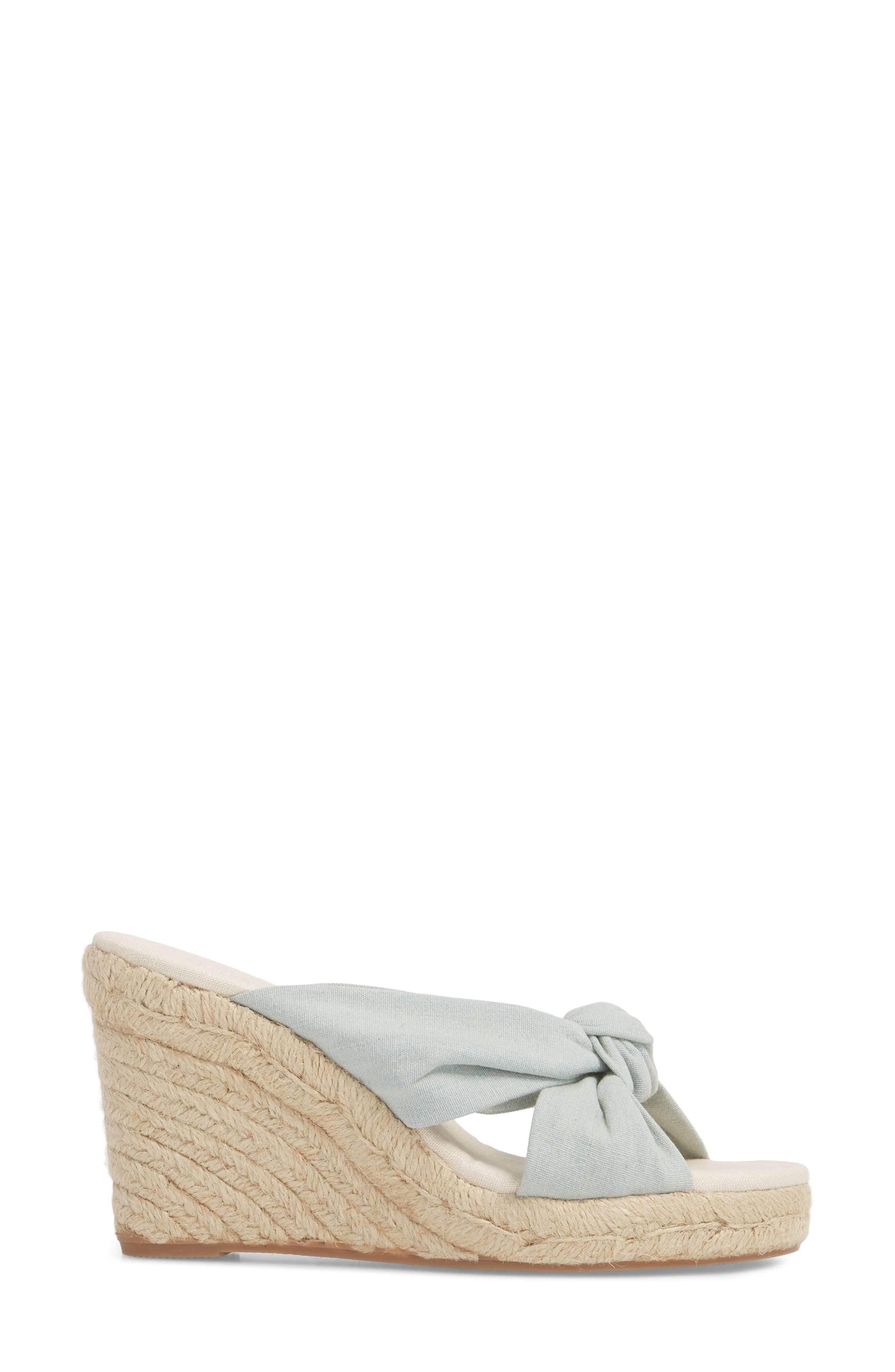 Knotted Espadrille Wedge Sandal,                             Alternate thumbnail 3, color,                             420