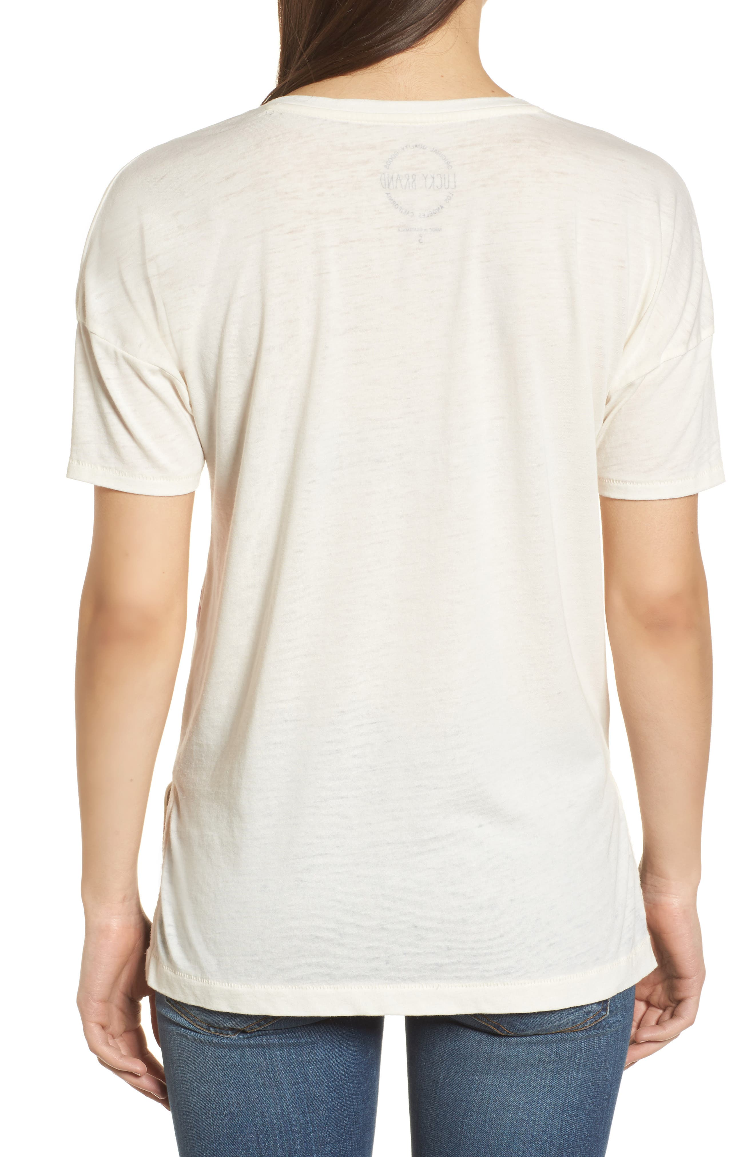 White Floral Tee,                             Alternate thumbnail 2, color,                             900