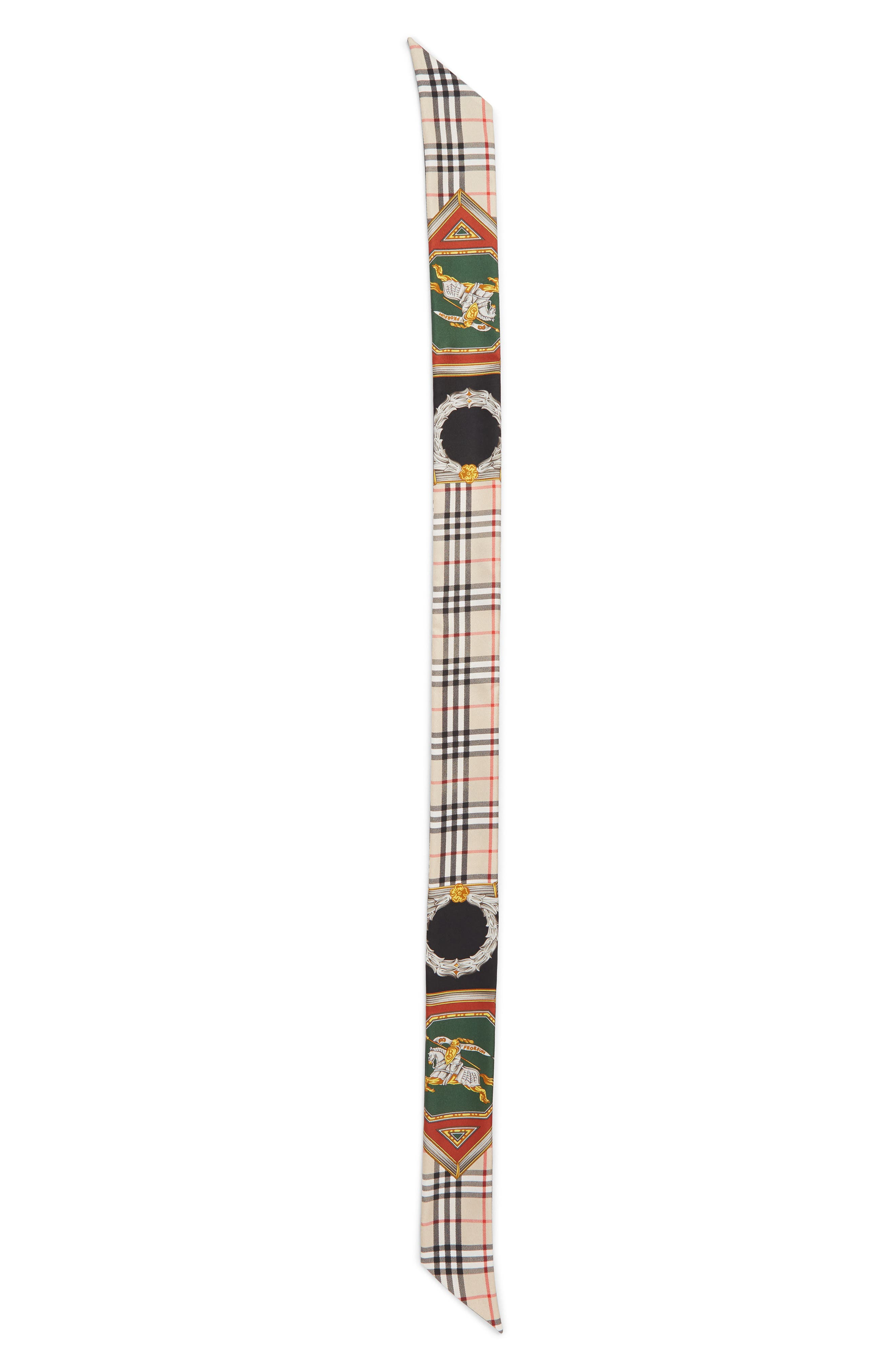 Archive Print Skinny Scarf by Burberry