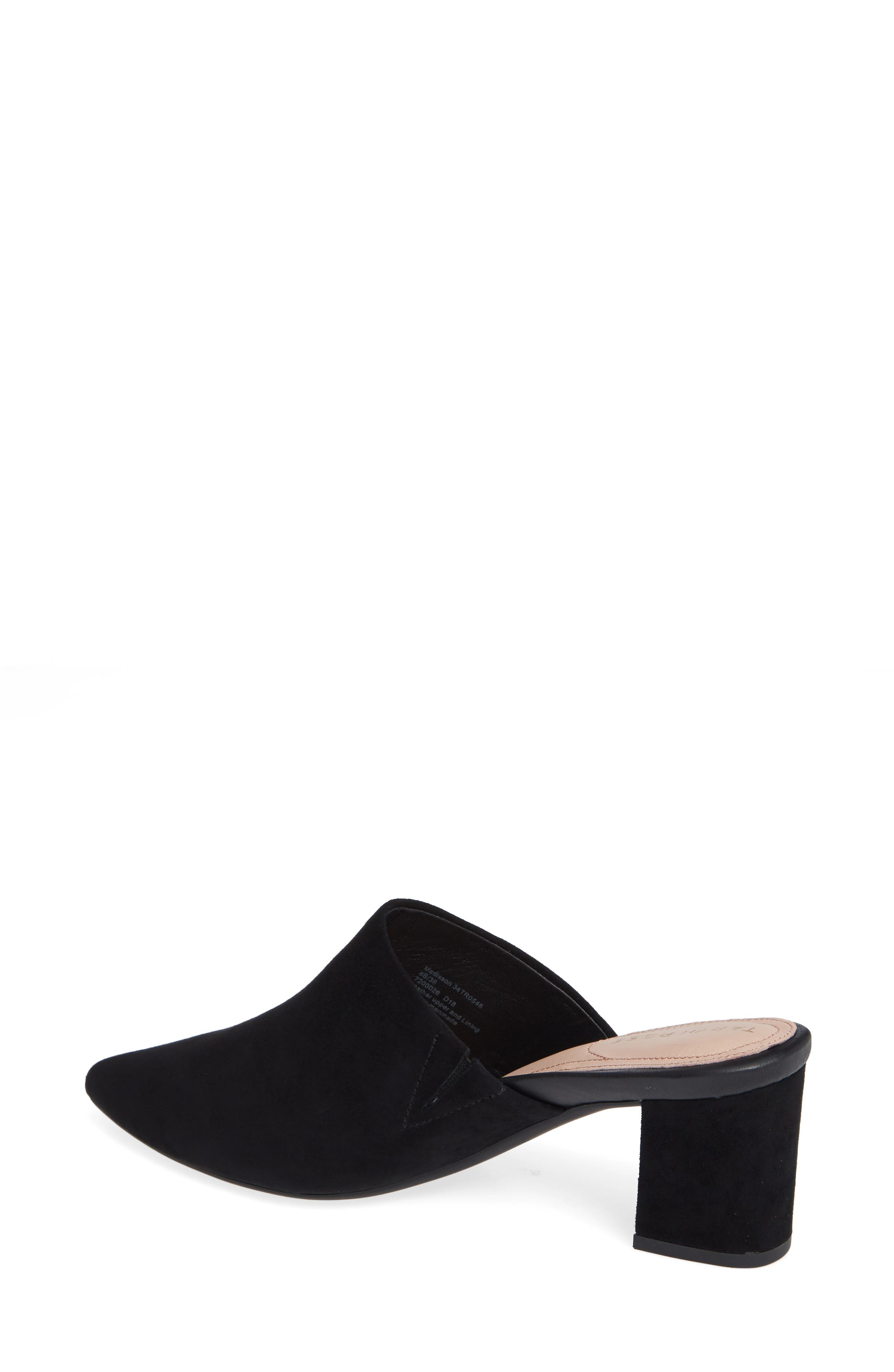 Madisson Pointy Toe Mule,                             Alternate thumbnail 2, color,                             BLACK SUEDE