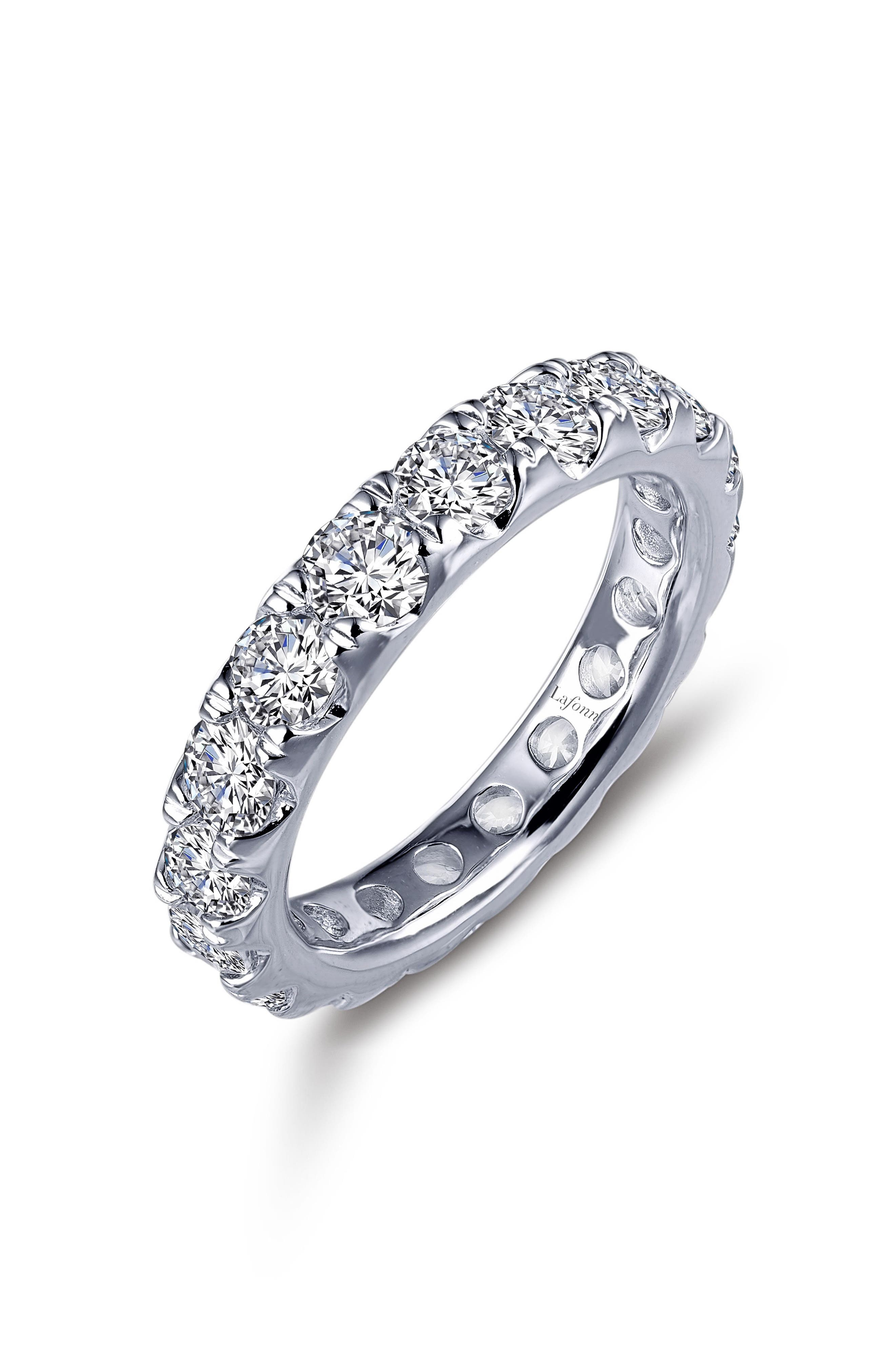 Simulated Diamond Eternity Band,                         Main,                         color, SILVER