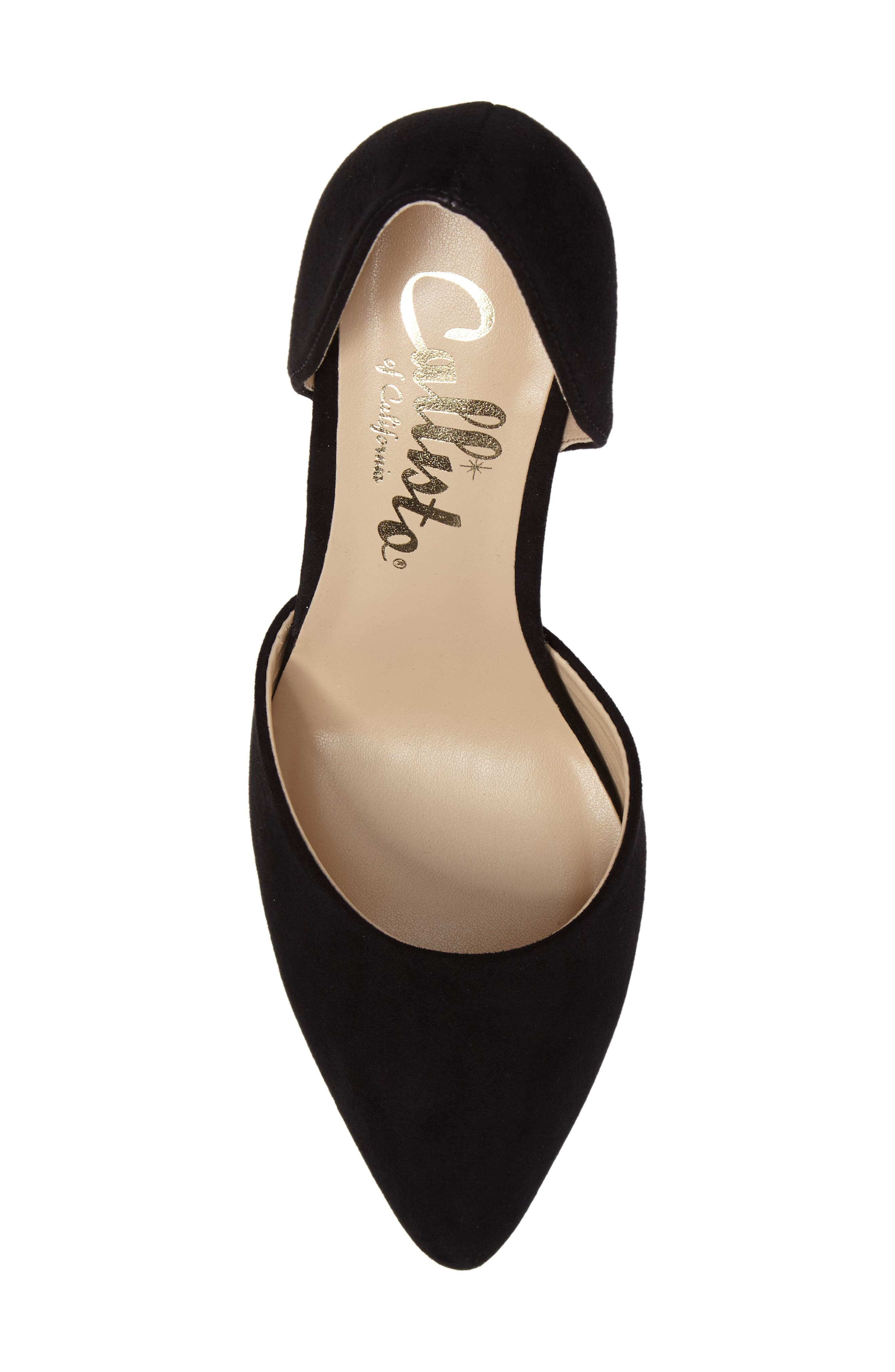 Felicitas d'Orsay Pump,                             Alternate thumbnail 5, color,                             BLACK SYNTHETIC