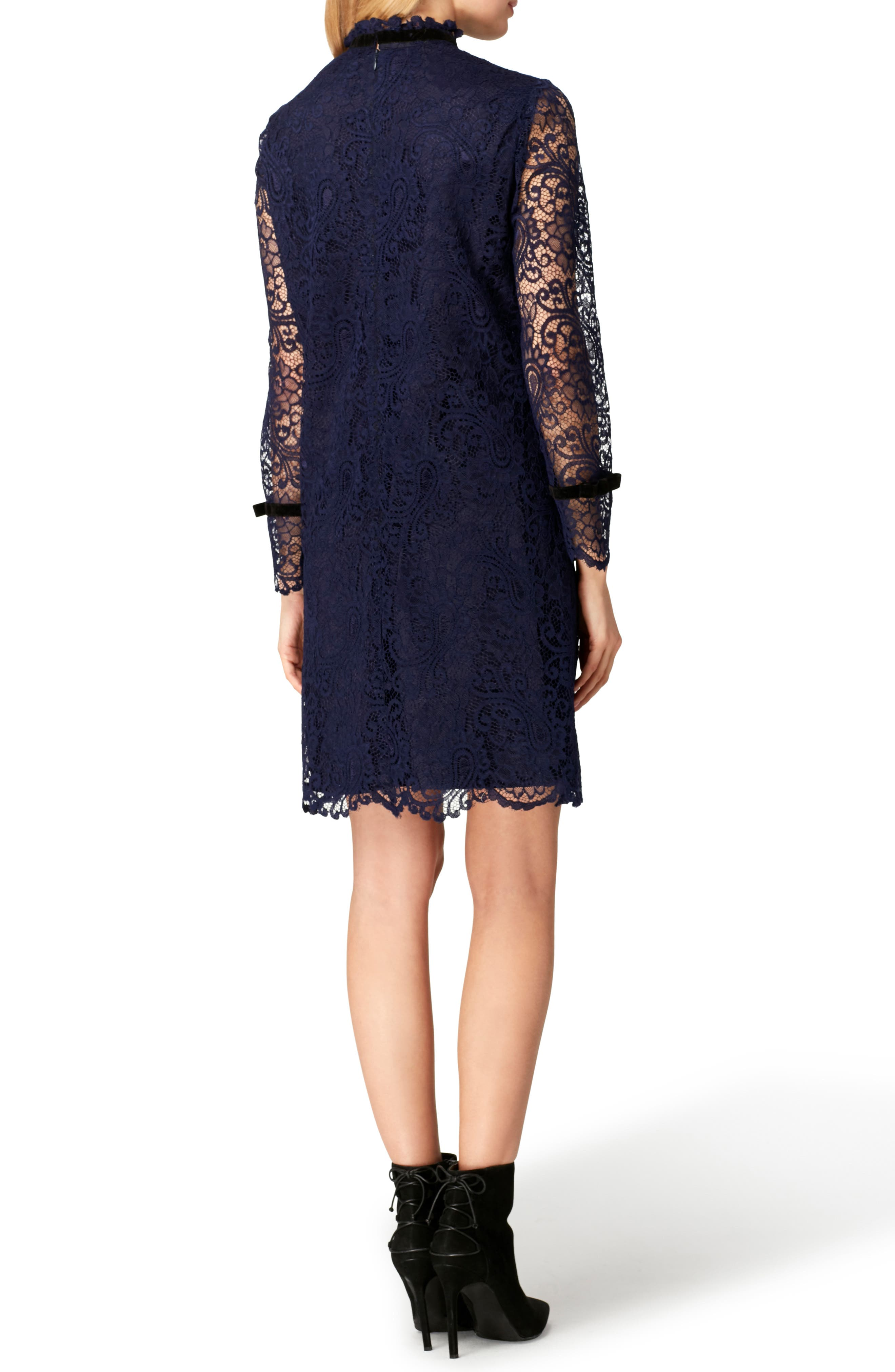 Lace Shift Dress,                             Alternate thumbnail 2, color,                             422