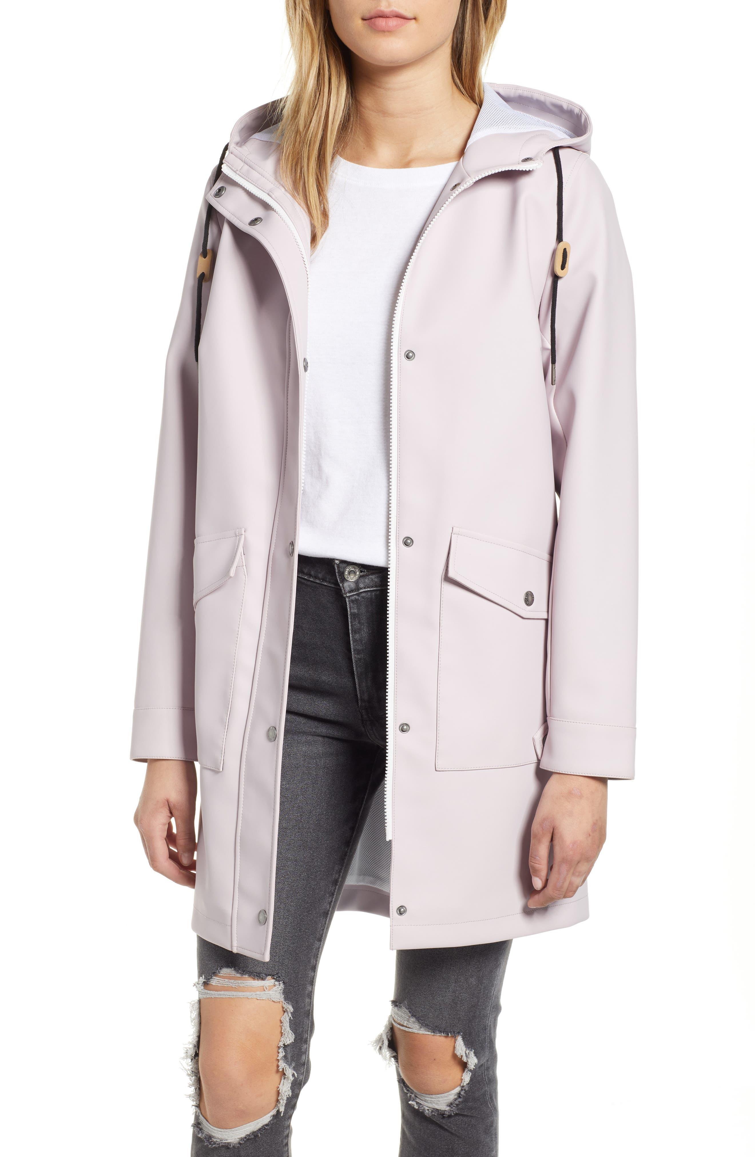 Rain Jacket,                         Main,                         color, LAVENDER