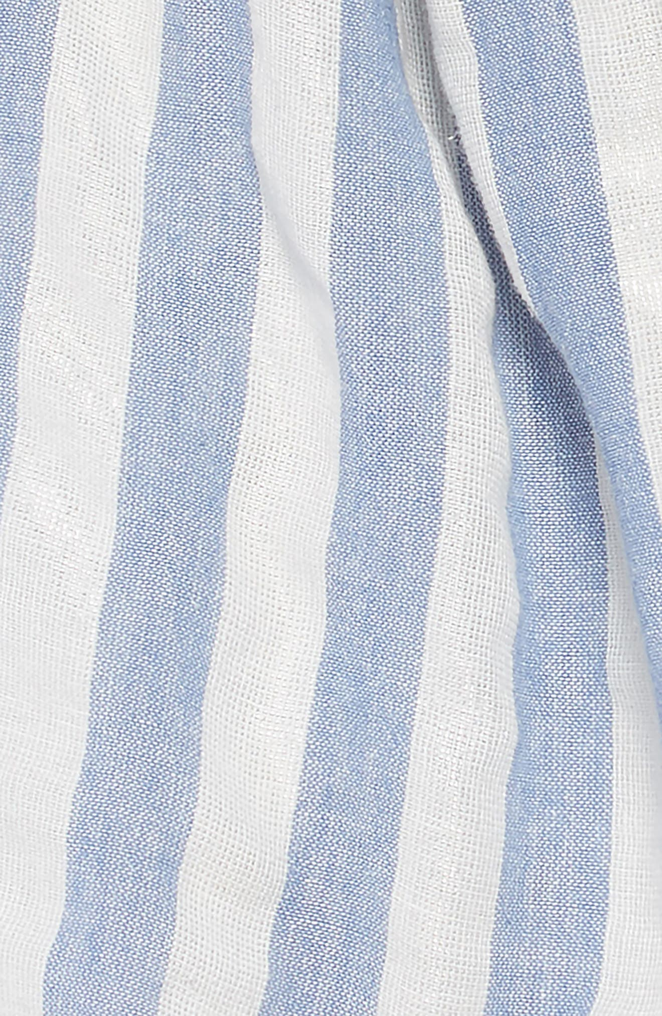 Chrissy Stripe Dress,                             Alternate thumbnail 3, color,                             BLUE