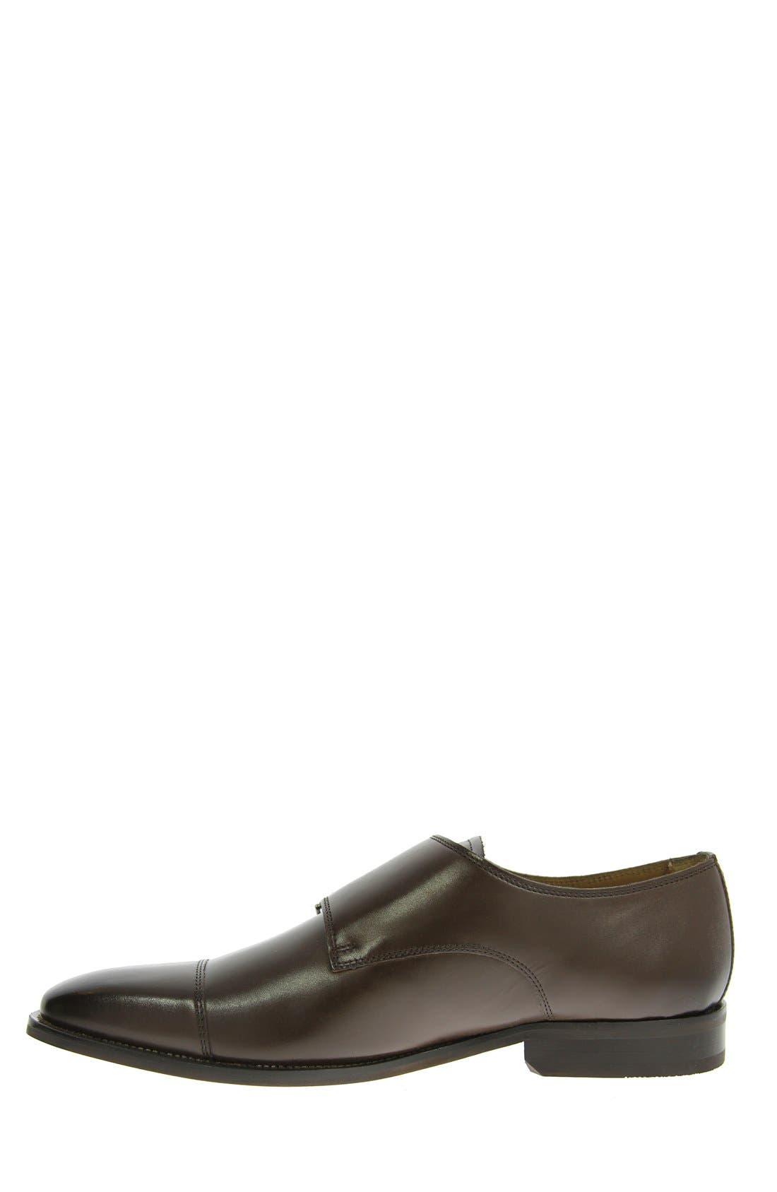 'Sabato' Double Monk Strap Shoe,                             Alternate thumbnail 4, color,                             BROWN