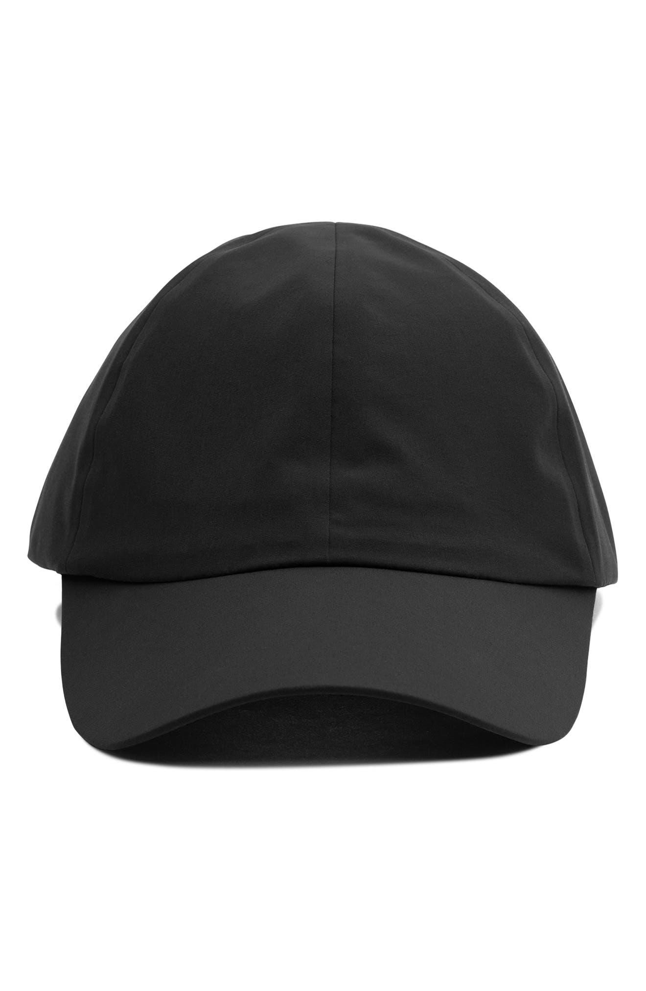 Waterproof Nylon Ball Cap,                             Alternate thumbnail 2, color,                             BLACK