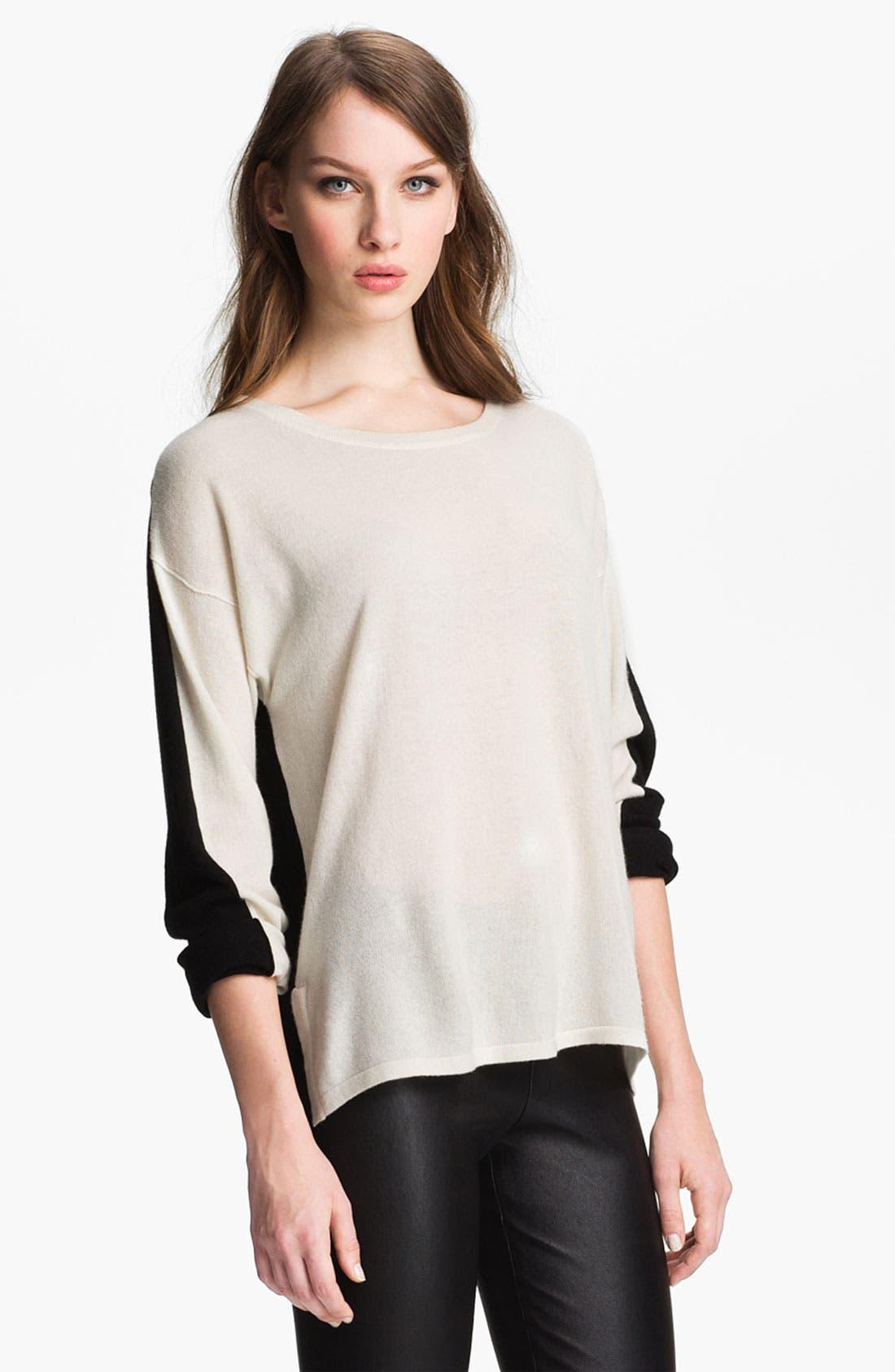 Colorblock Cashmere Sweater, Main, color, 100