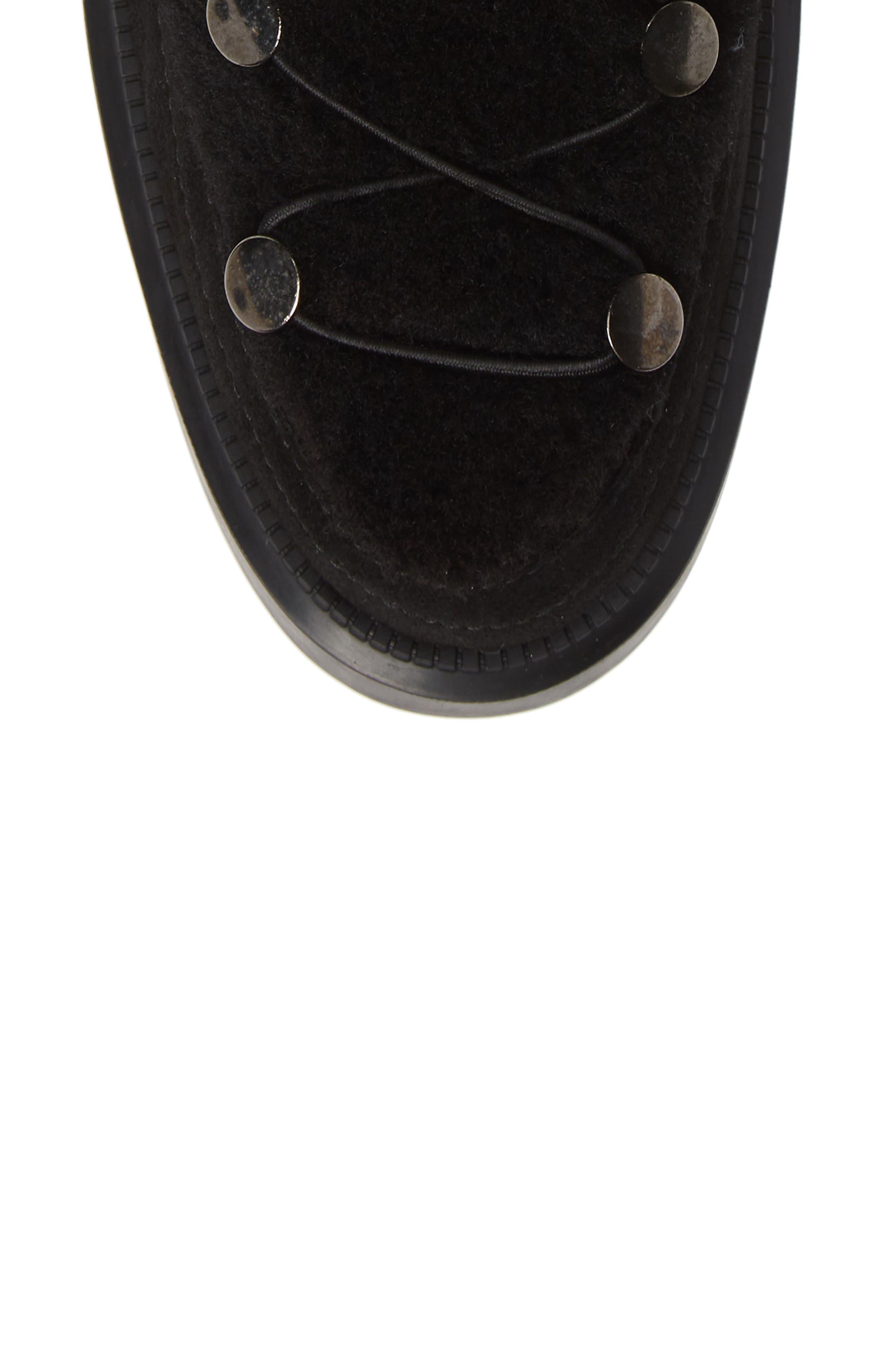 Lorena Genuine Shearling Boot,                             Alternate thumbnail 5, color,                             BLACK