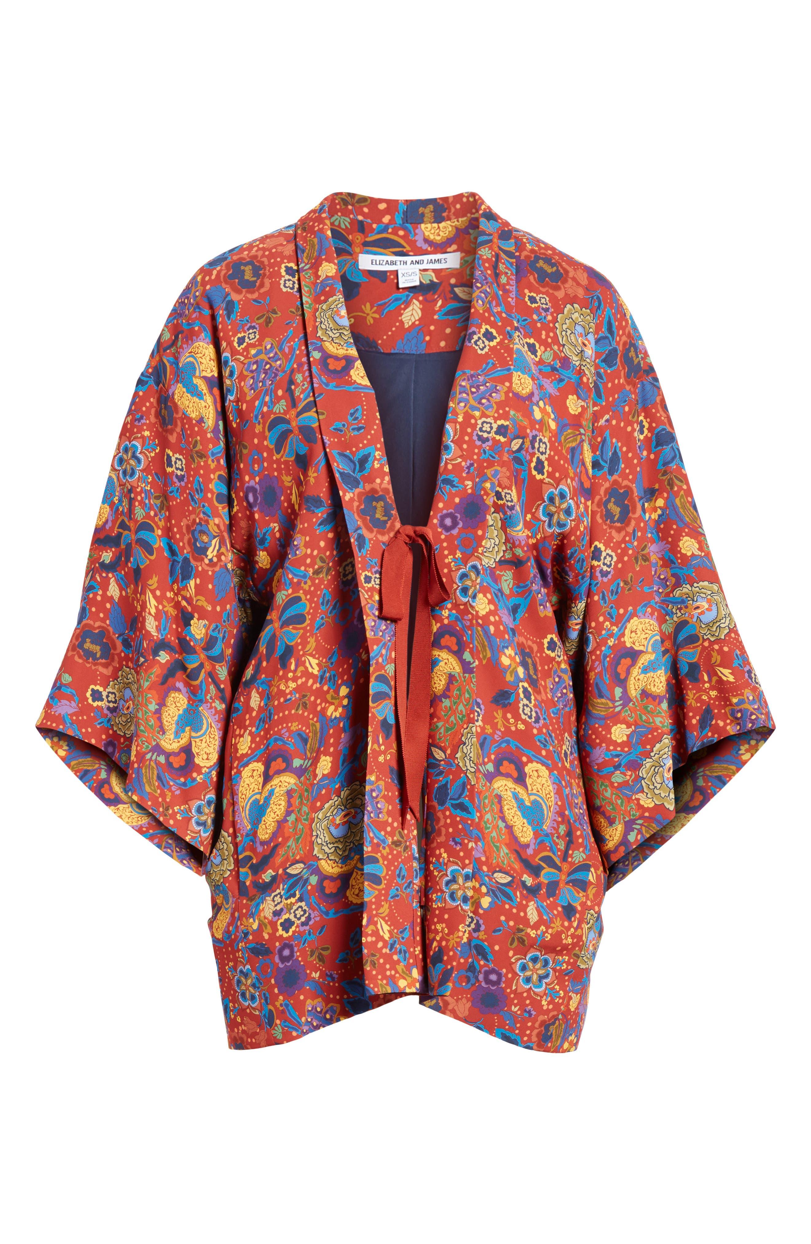 Drew Crop Sleeve Kimono,                             Alternate thumbnail 5, color,                             813