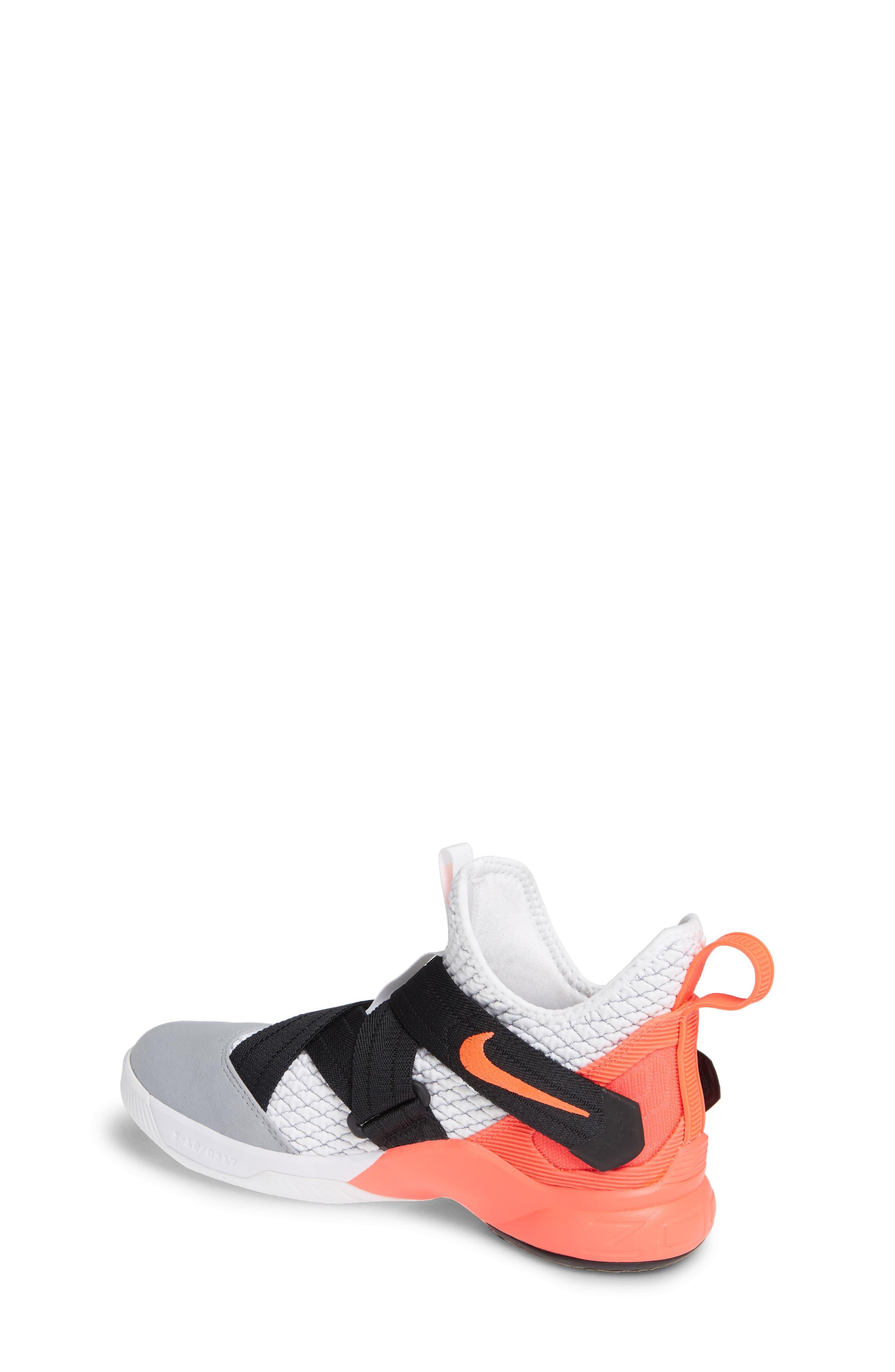 LeBron Soldier XII SFG Basketball Shoe,                             Alternate thumbnail 2, color,                             WHITE/ DARK GREY CRIMSON