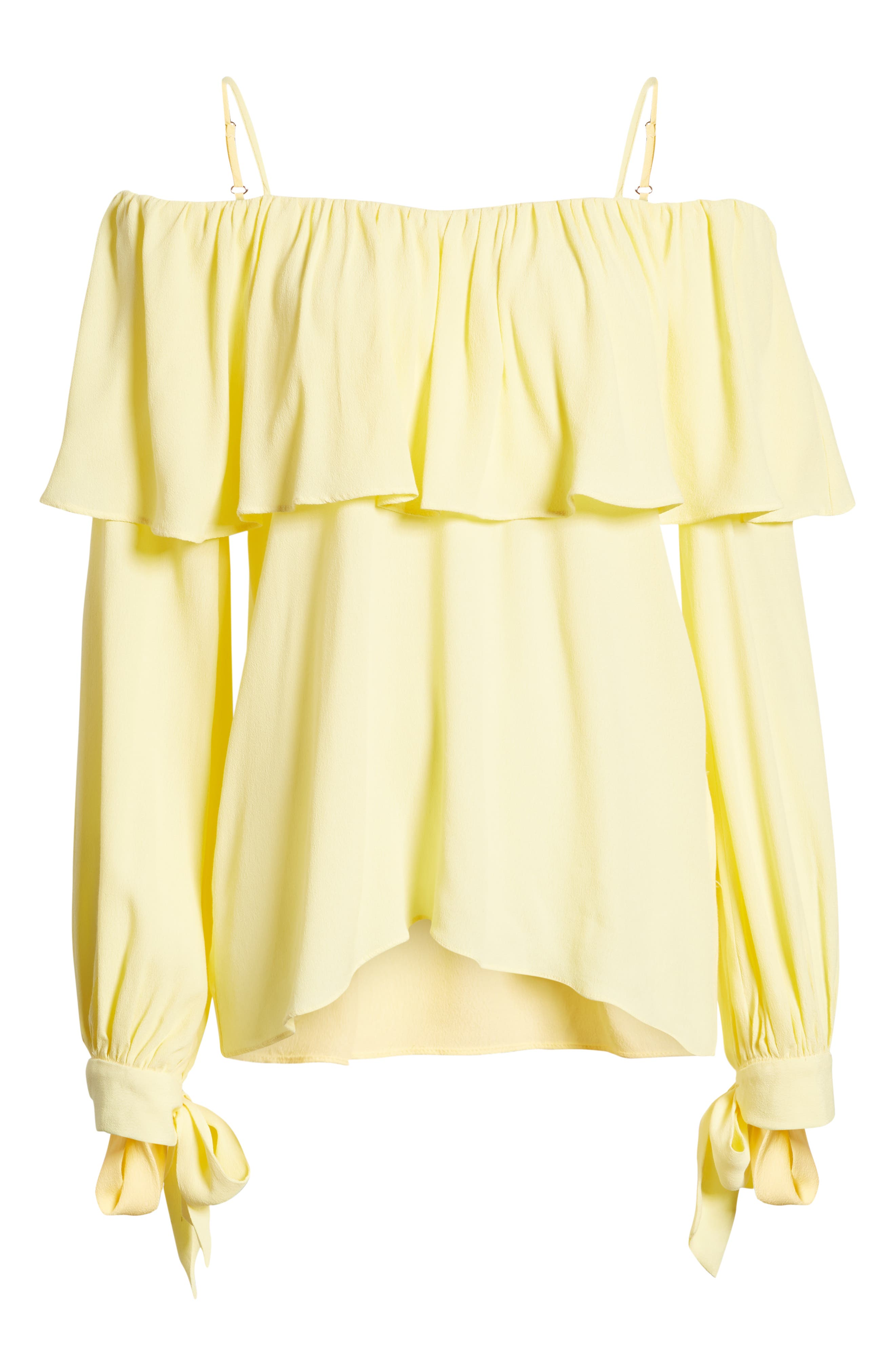 Chorus Off the Shoulder Tie Sleeve Top,                             Alternate thumbnail 7, color,                             700