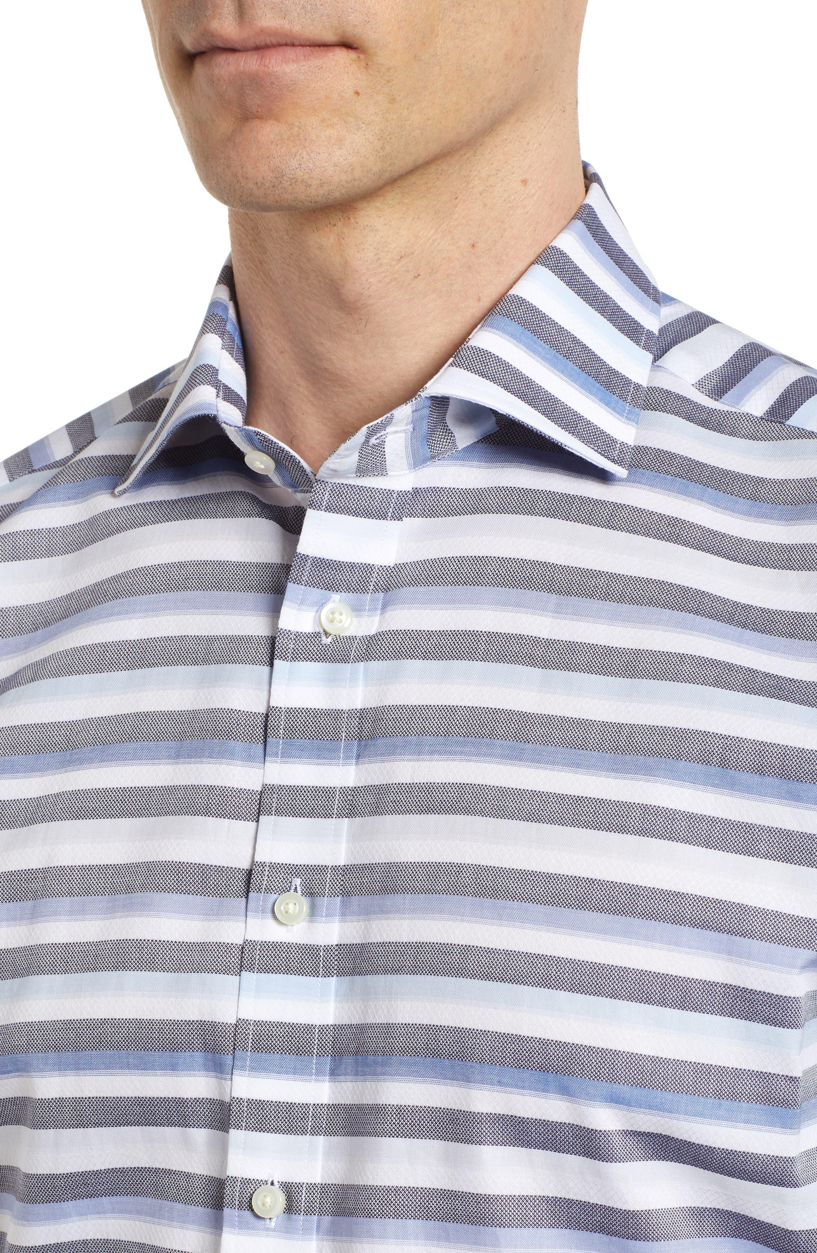 Stripe Sport Shirt,                             Alternate thumbnail 4, color,                             400