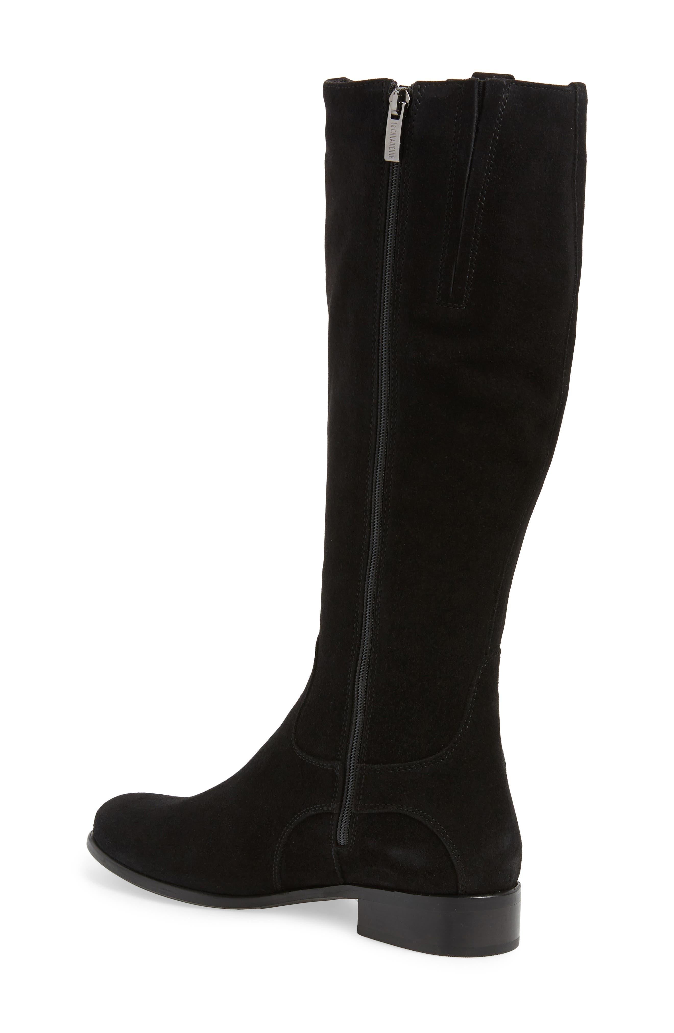 'Stefanie' Waterproof Boot,                             Alternate thumbnail 2, color,                             BLACK SUEDE