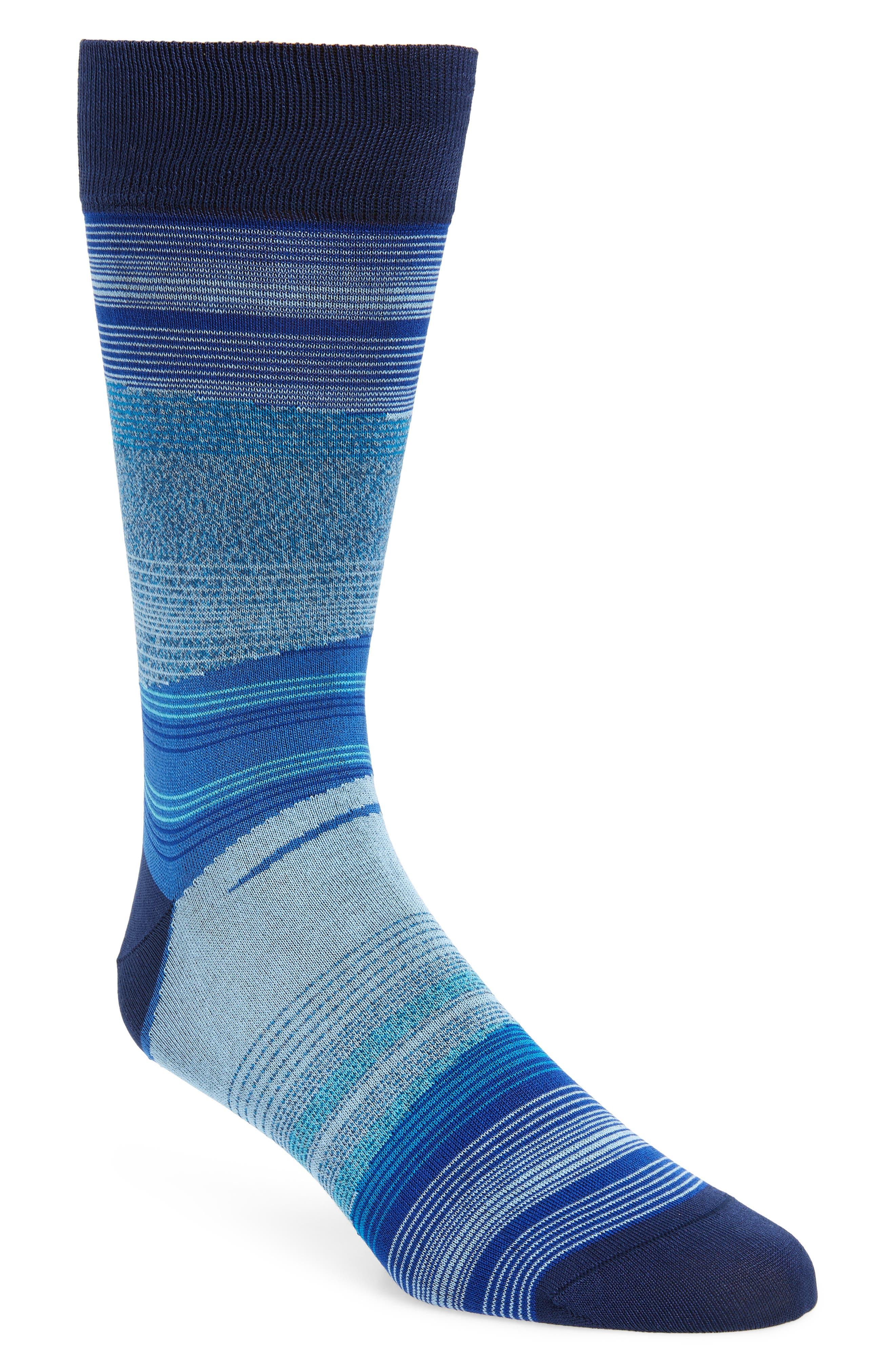 Stripe Socks,                             Main thumbnail 1, color,                             NAVY
