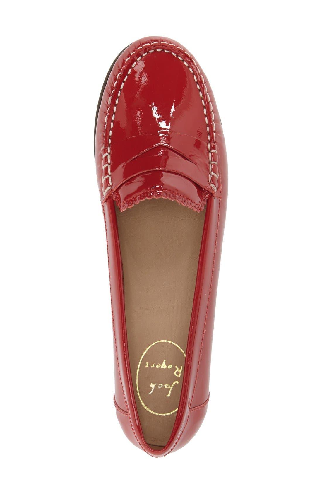 'Quinn' Leather Loafer,                             Alternate thumbnail 18, color,