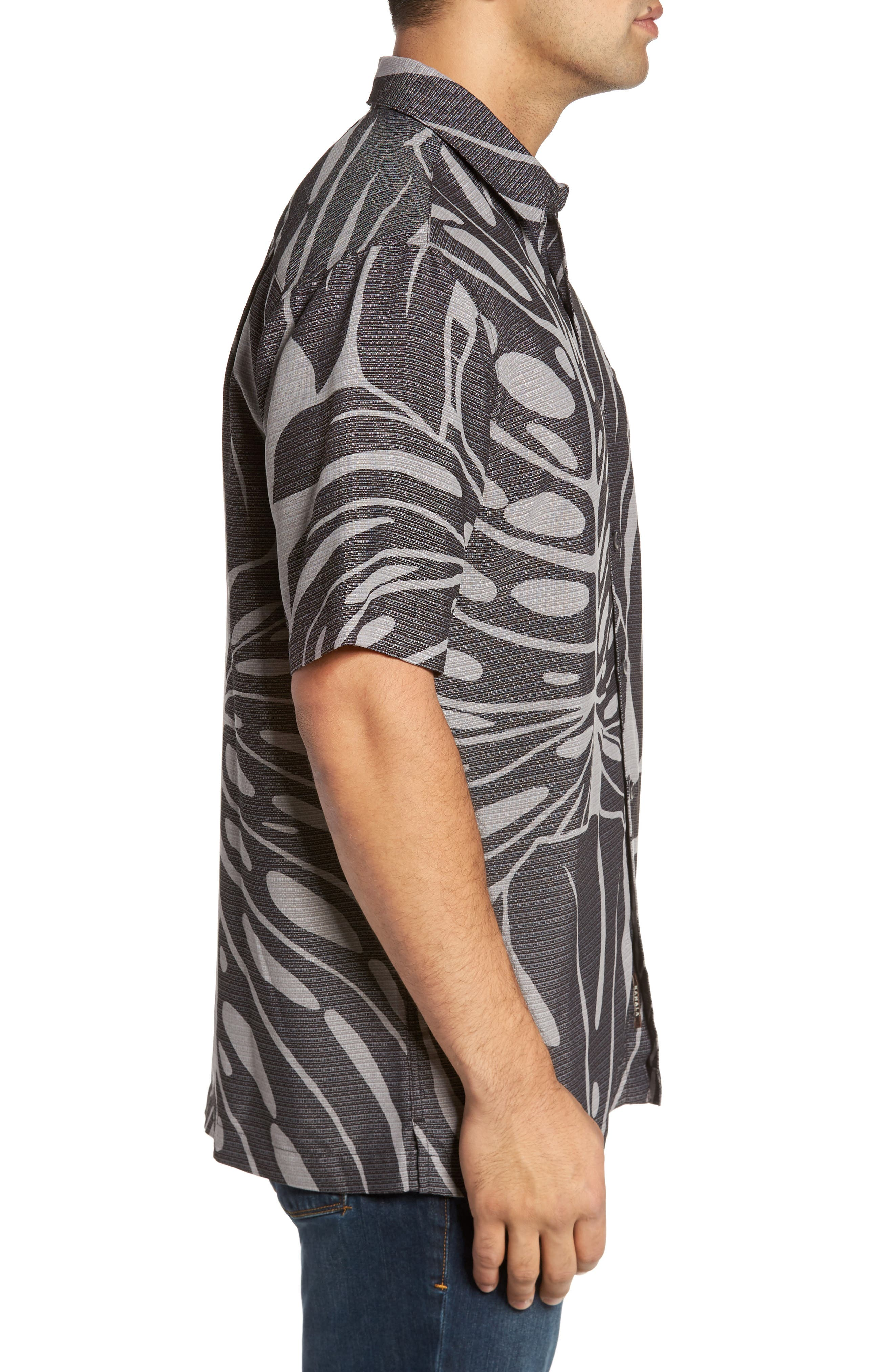 Syri's Leaf Classic Fit Print Sport Shirt,                             Alternate thumbnail 5, color,