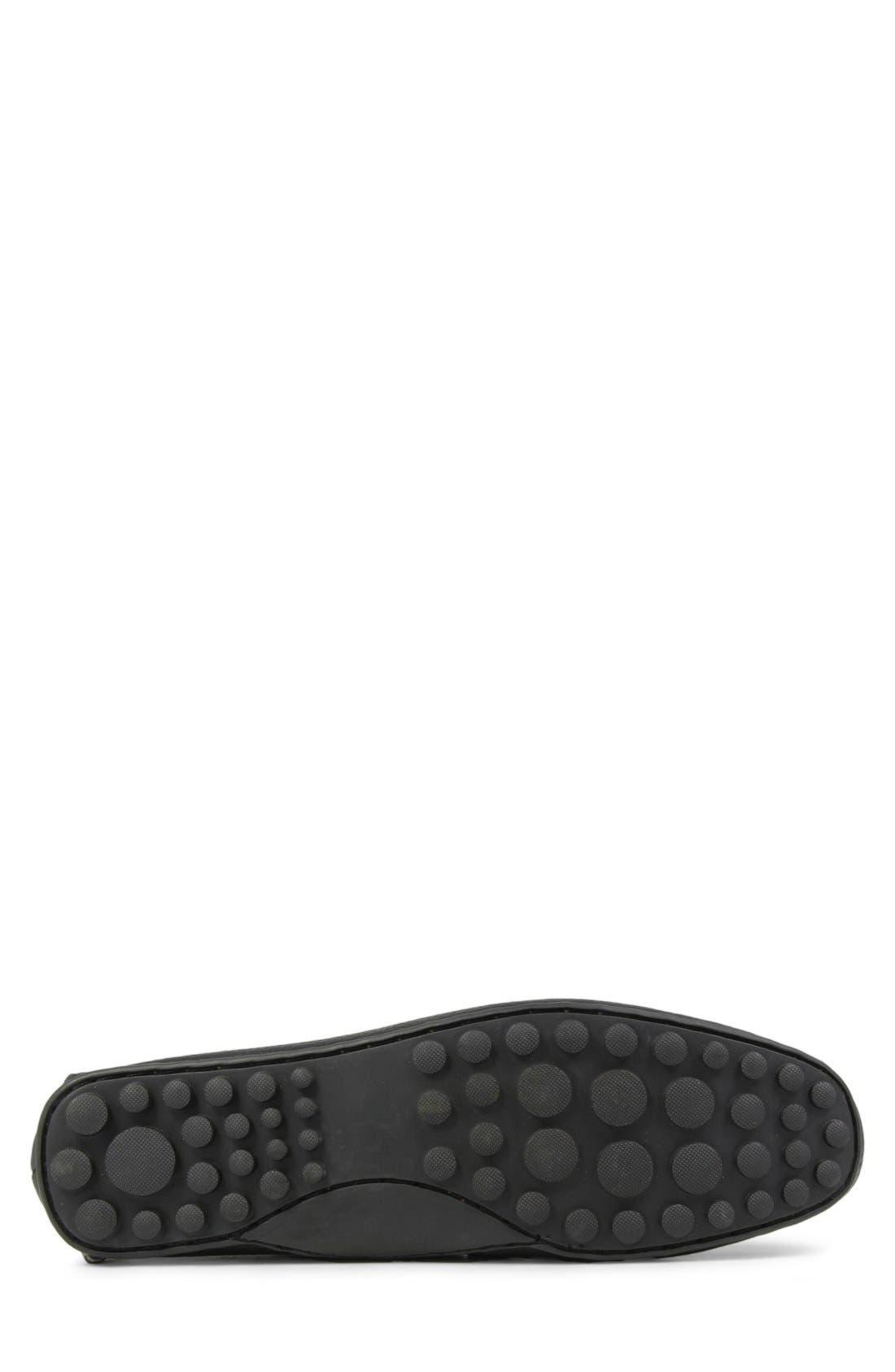 'Danforth' Driving Shoe,                             Alternate thumbnail 4, color,                             BLACK LEATHER