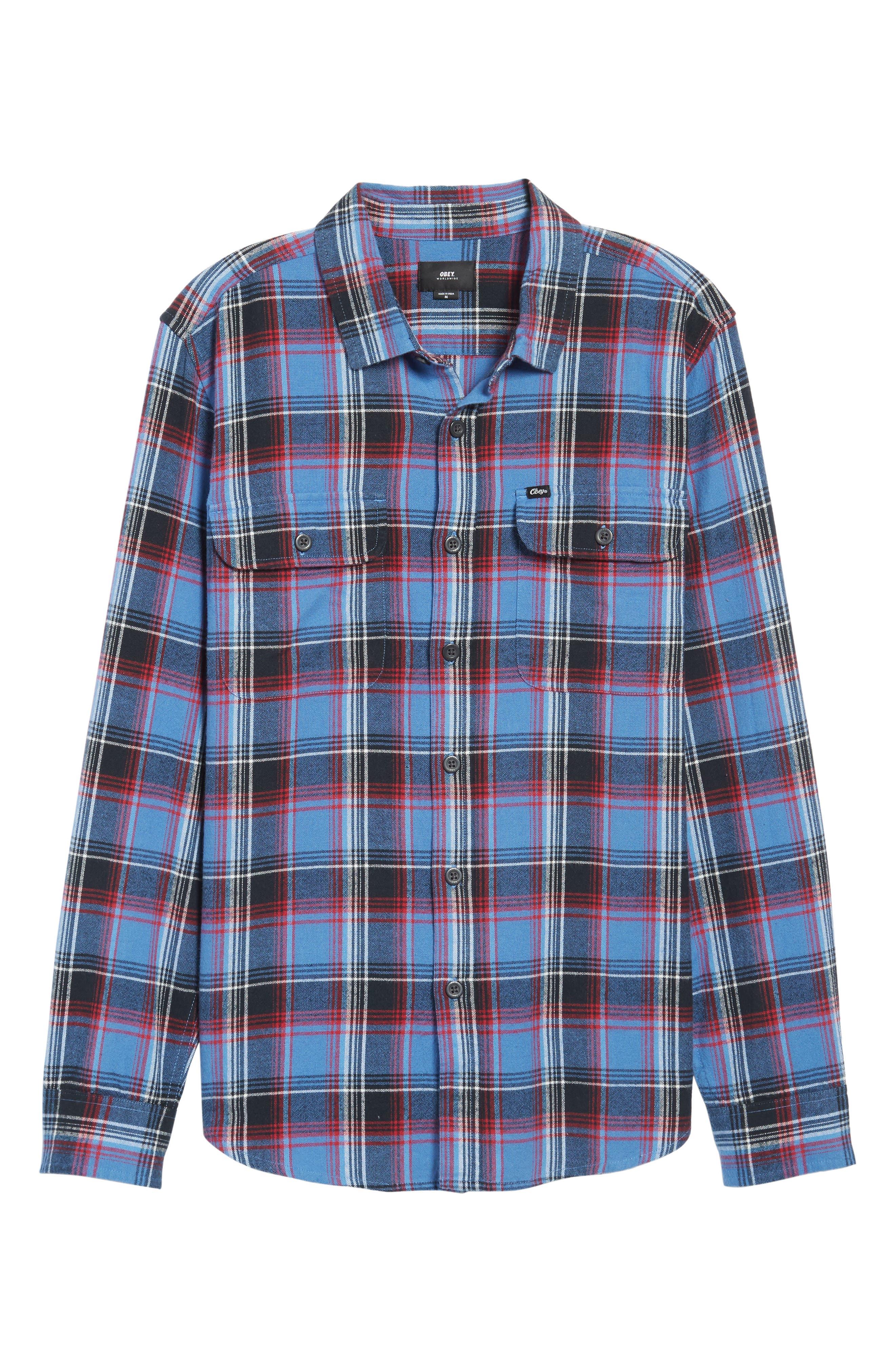Marvyn Plaid Woven Shirt,                             Alternate thumbnail 6, color,                             410