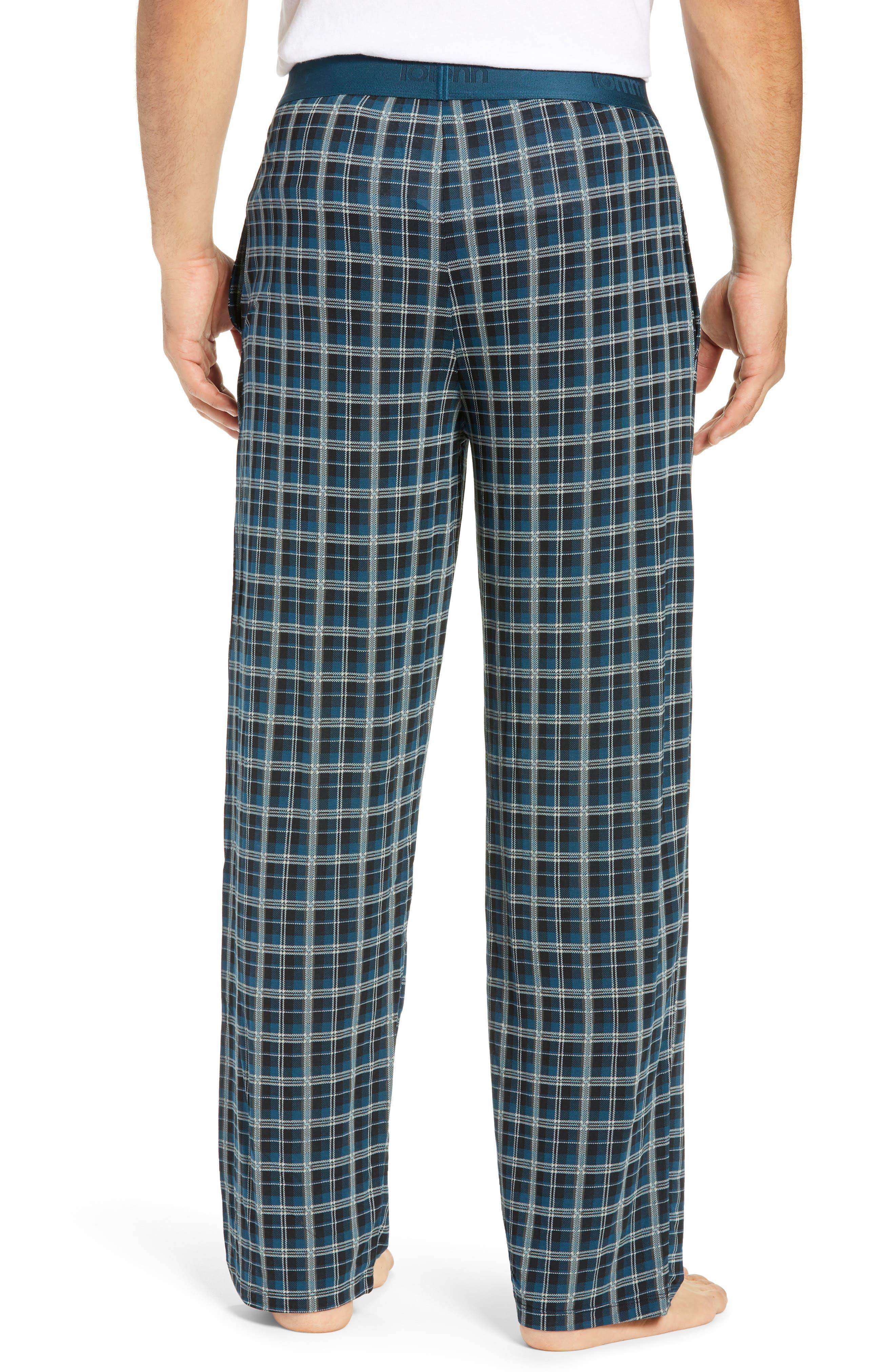 Second Skin Stretch Modal Pajama Pants,                             Alternate thumbnail 2, color,                             REFLECTING POND PLAID