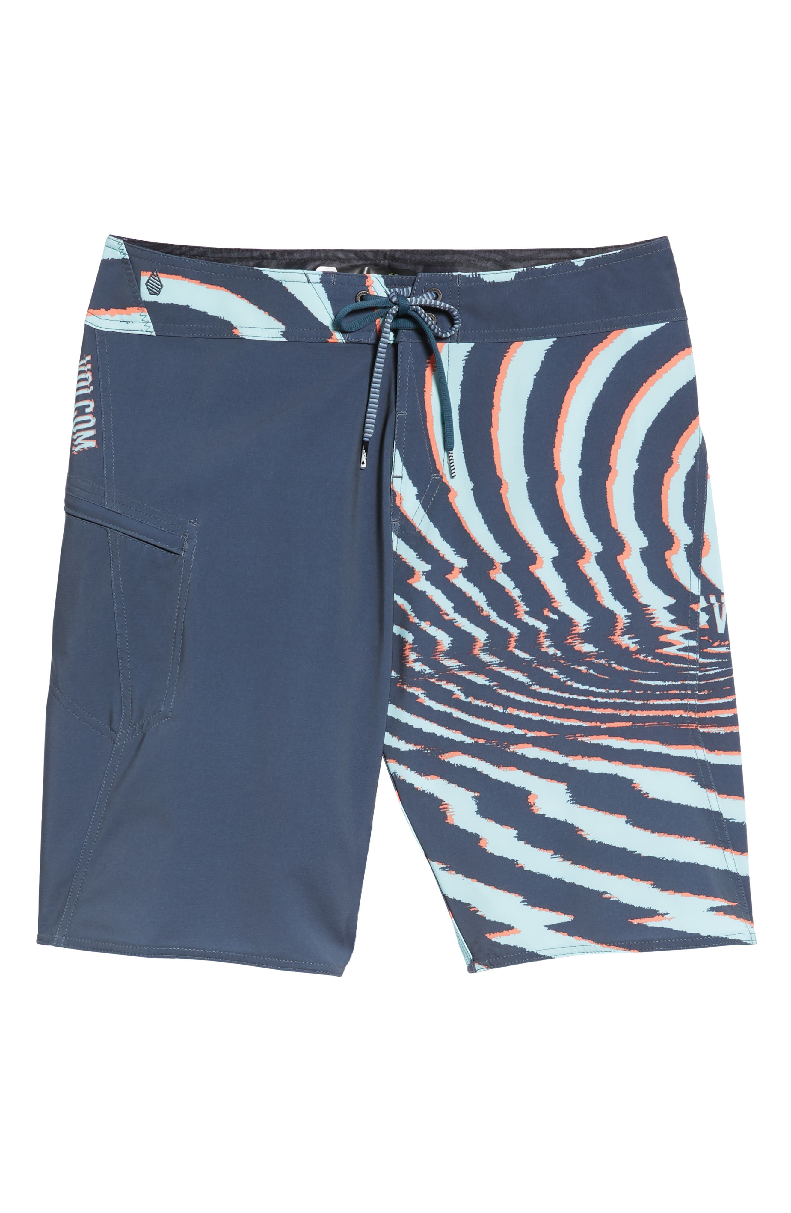 Lido Block Mod Board Shorts,                             Alternate thumbnail 6, color,                             MEDIUM BLUE