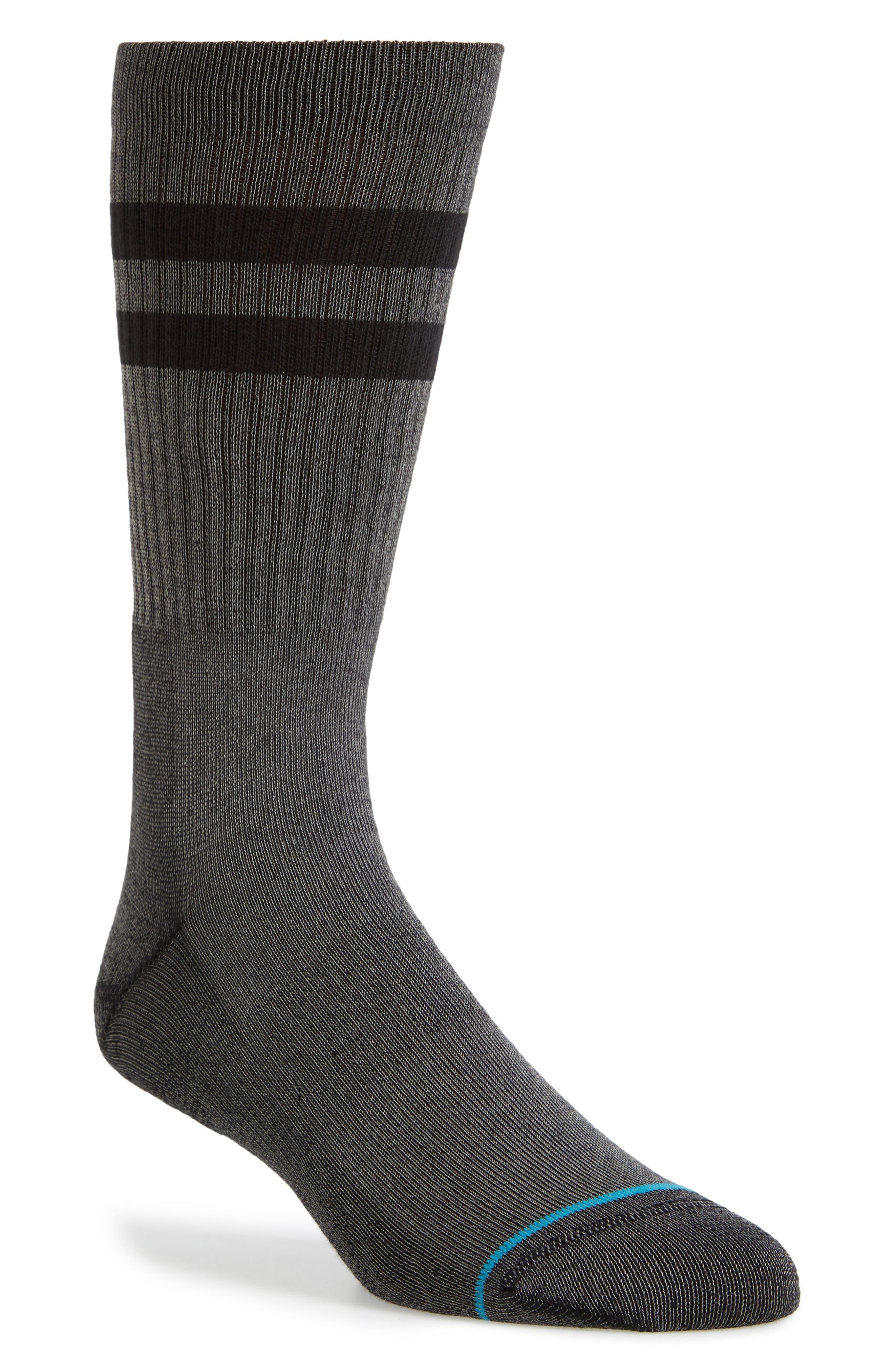 Joven Classic Crew Socks,                         Main,                         color, BLACK