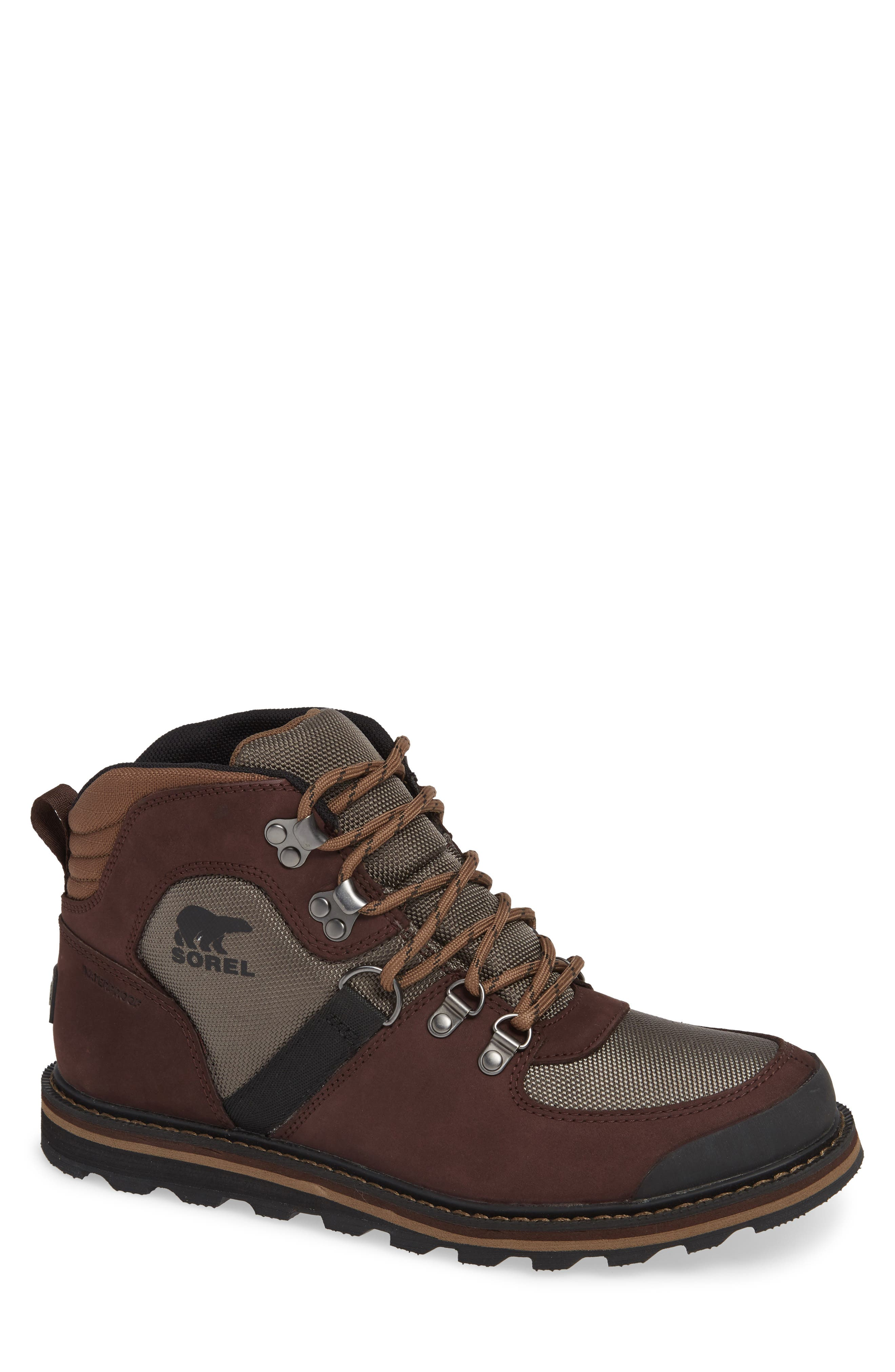 Madson Sport Waterproof Hiking Boot,                             Main thumbnail 1, color,                             MUD BROWN