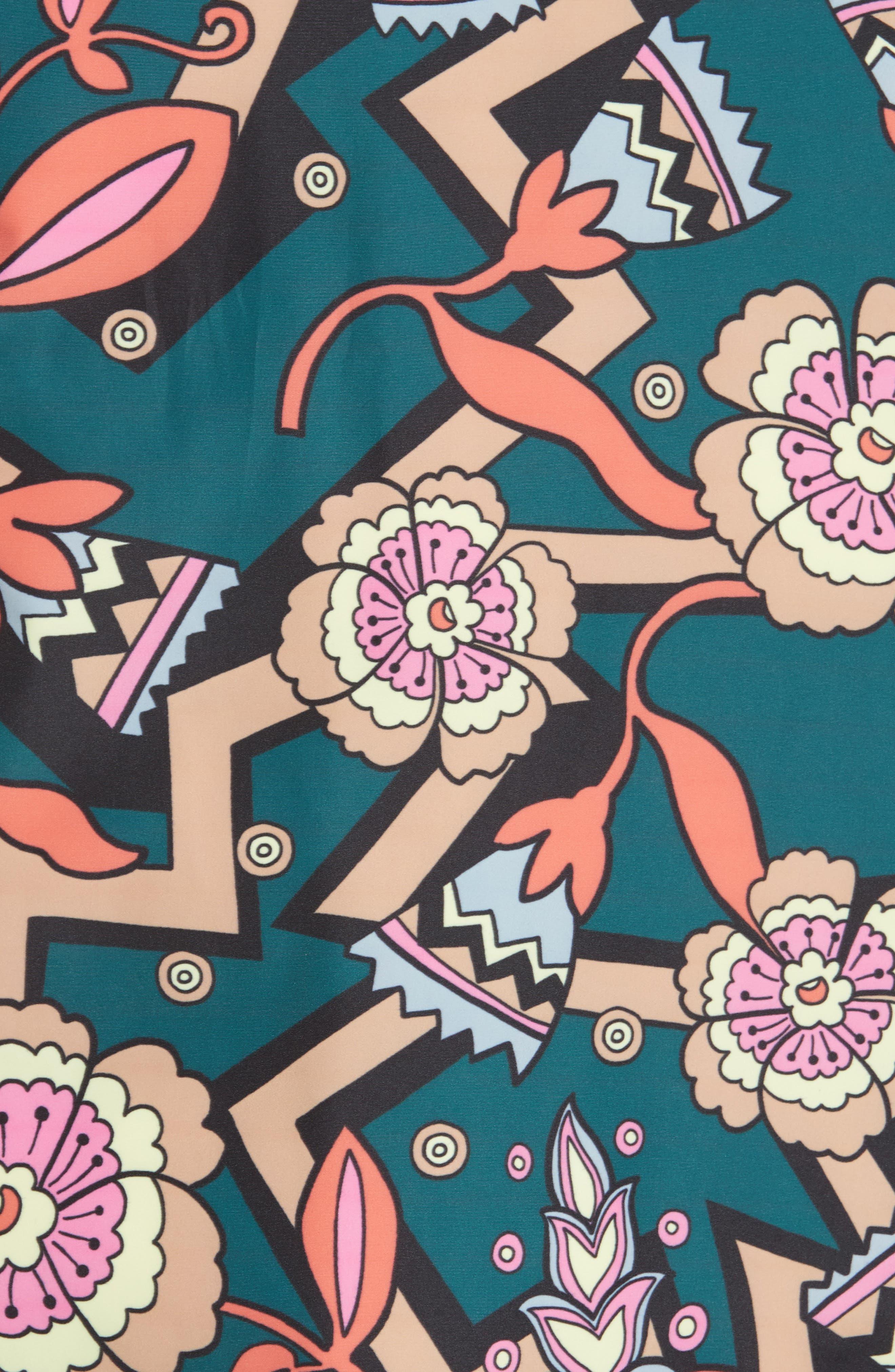 Reversible Printed Puffer Jacket,                             Alternate thumbnail 5, color,