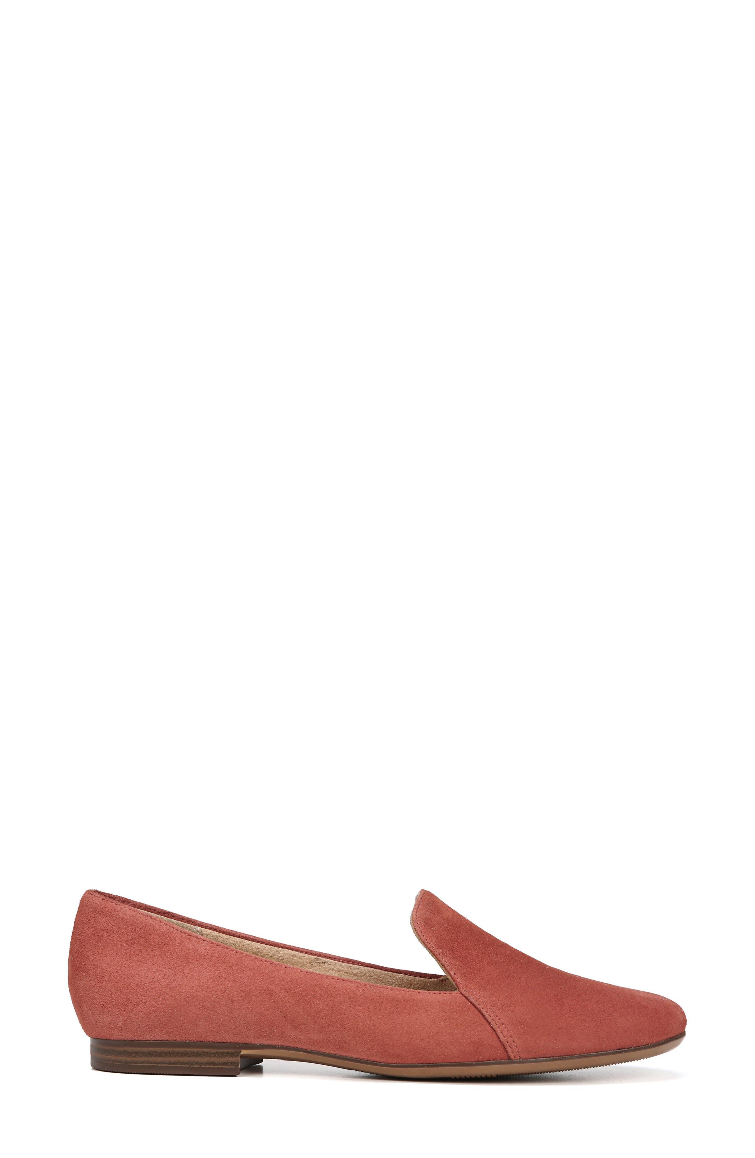 Emiline Flat Loafer,                             Alternate thumbnail 3, color,                             DESERT CLAY SUEDE
