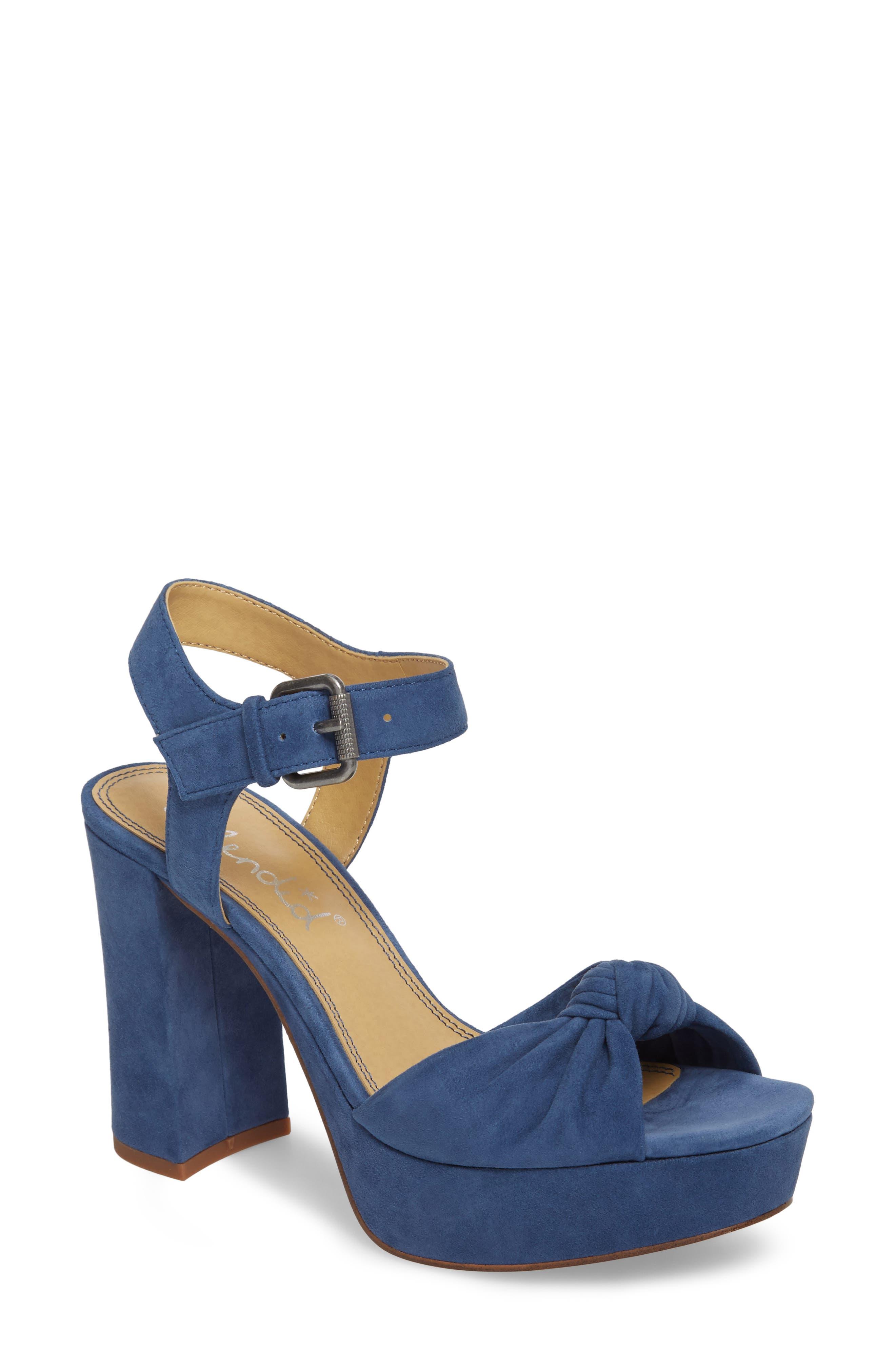 Splendid Bates Platform Sandal- Blue