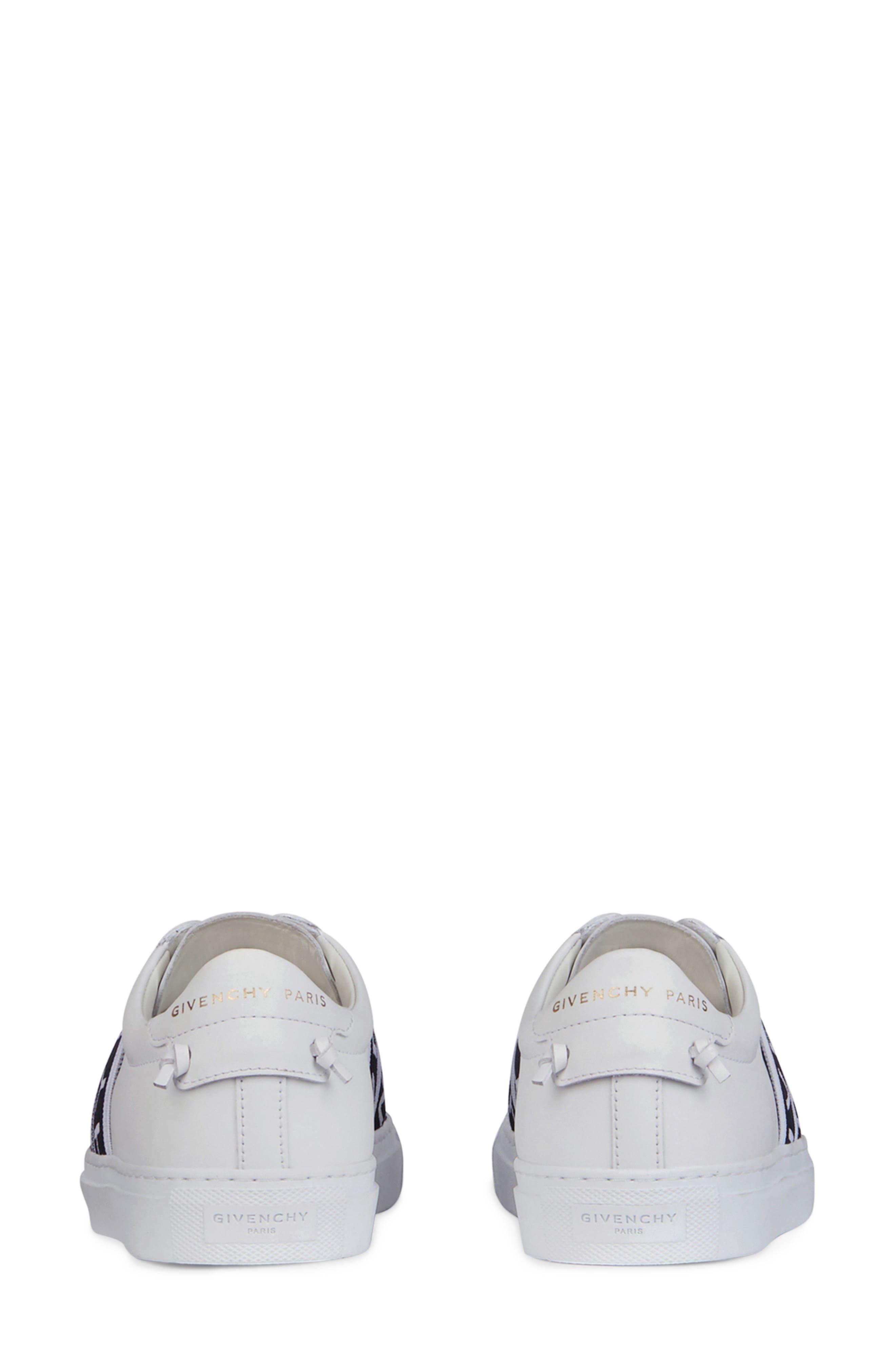 GIVENCHY,                             Urban Street Logo Strap Sneaker,                             Alternate thumbnail 5, color,                             WHITE/ BLACK