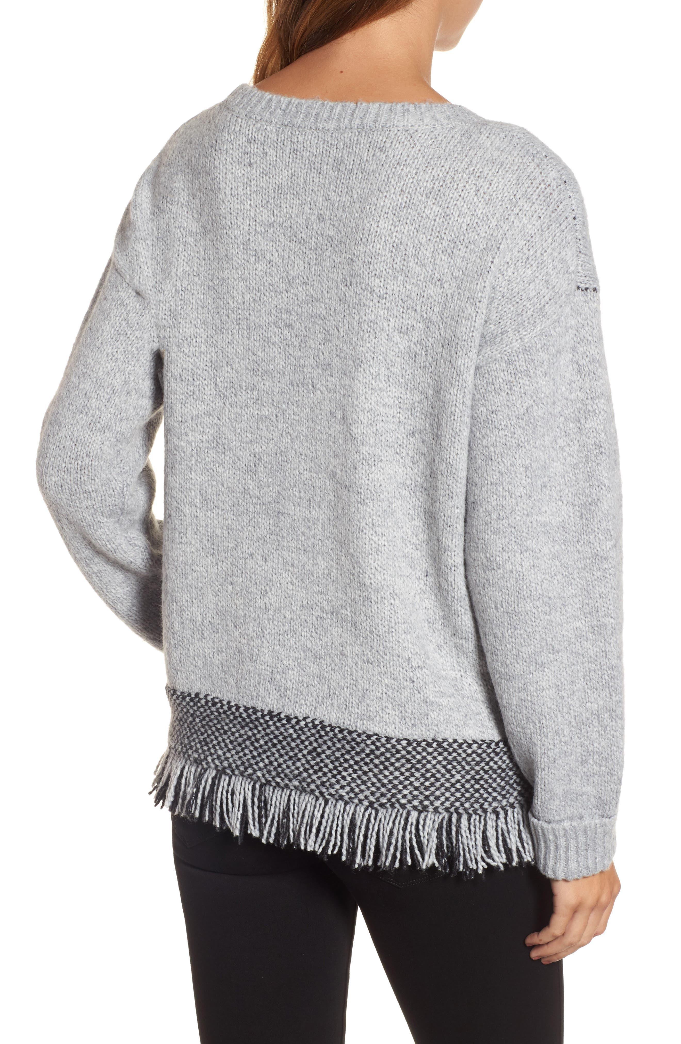 Fringe Sweater,                             Alternate thumbnail 6, color,