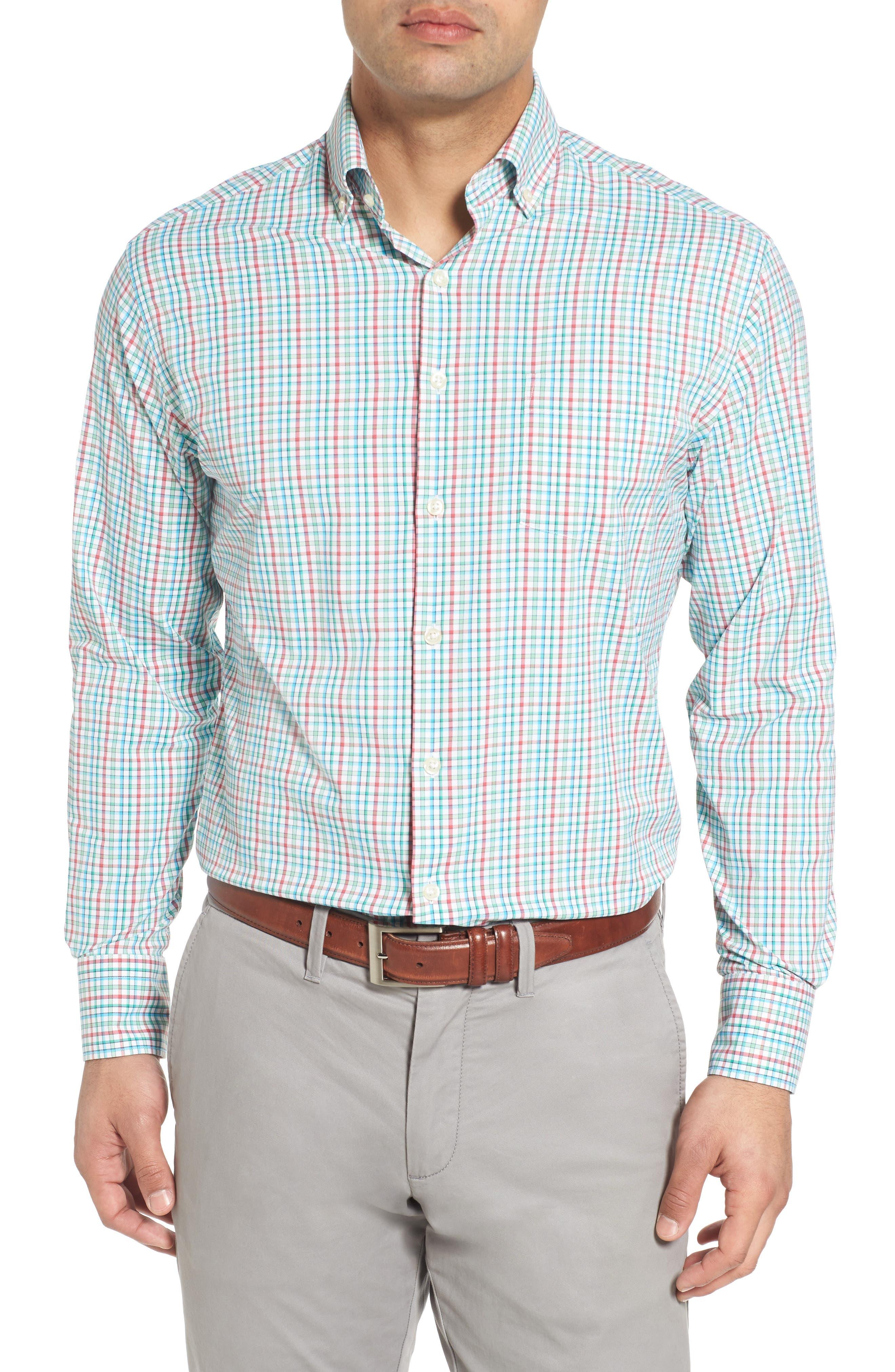 Gunn Regular Fit Tattersall Sport Shirt,                         Main,                         color, 100
