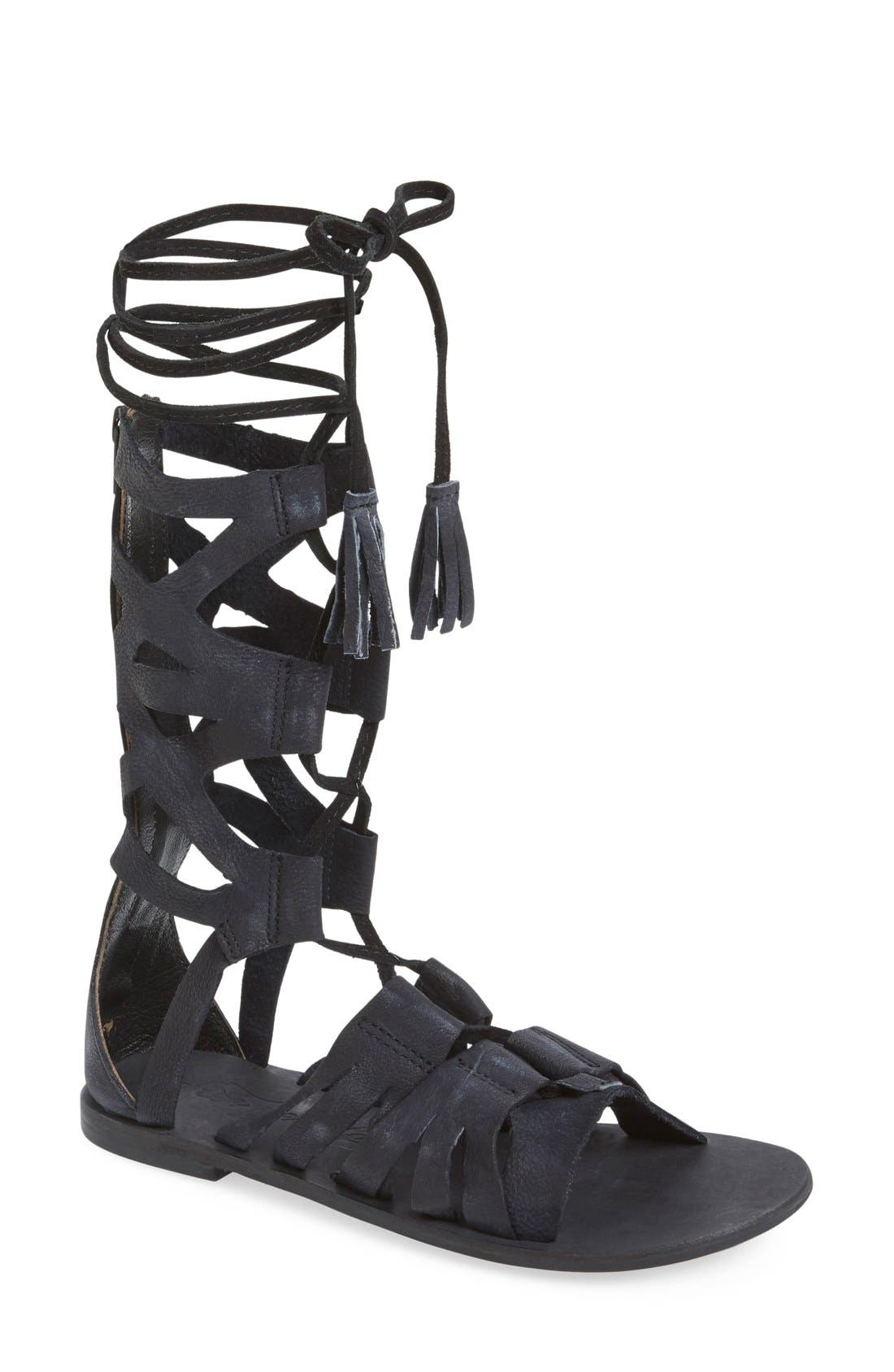 'Mesa Verde' Tall Gladiator Sandal,                             Main thumbnail 1, color,                             001