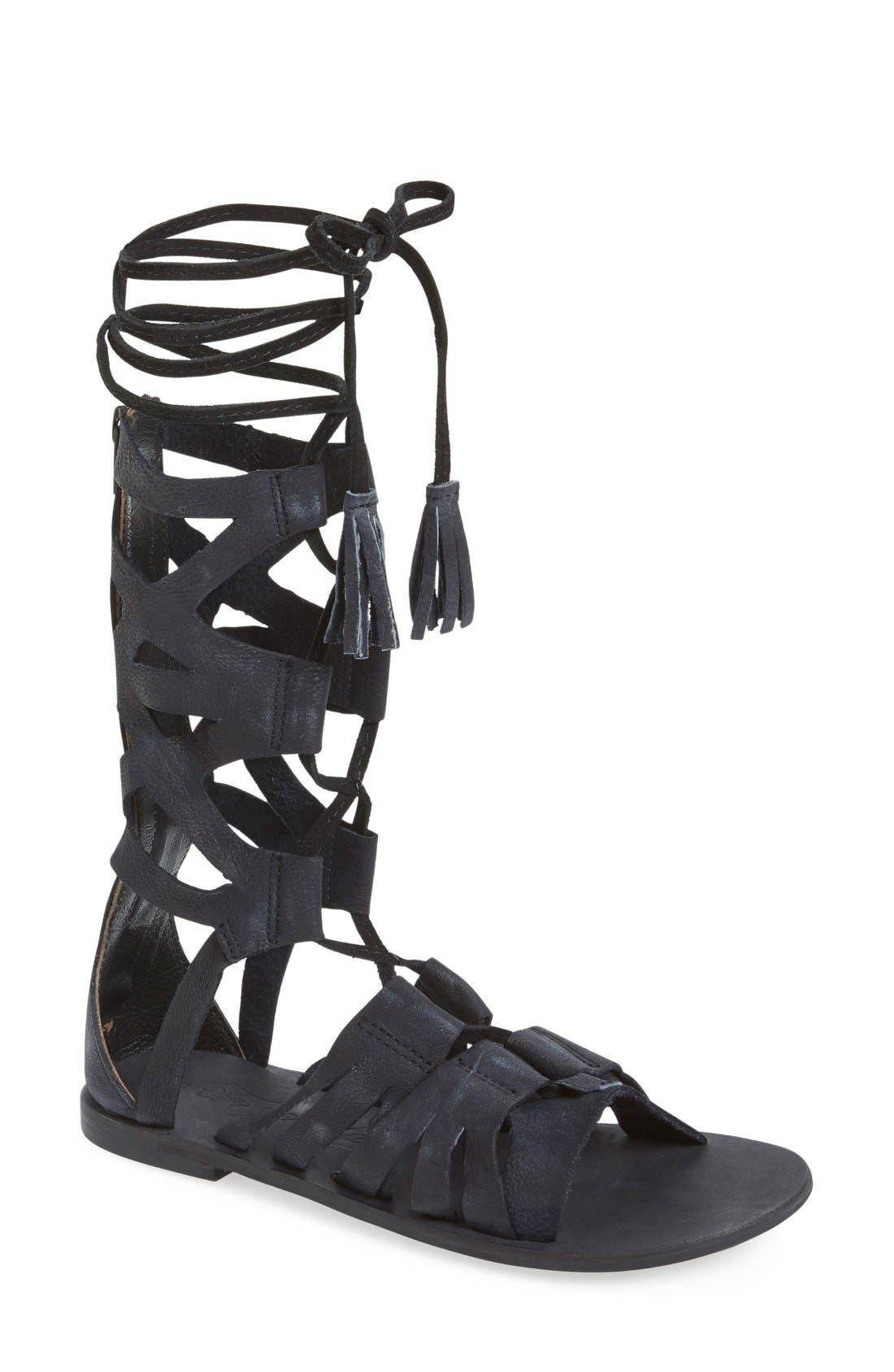 'Mesa Verde' Tall Gladiator Sandal,                         Main,                         color, 001