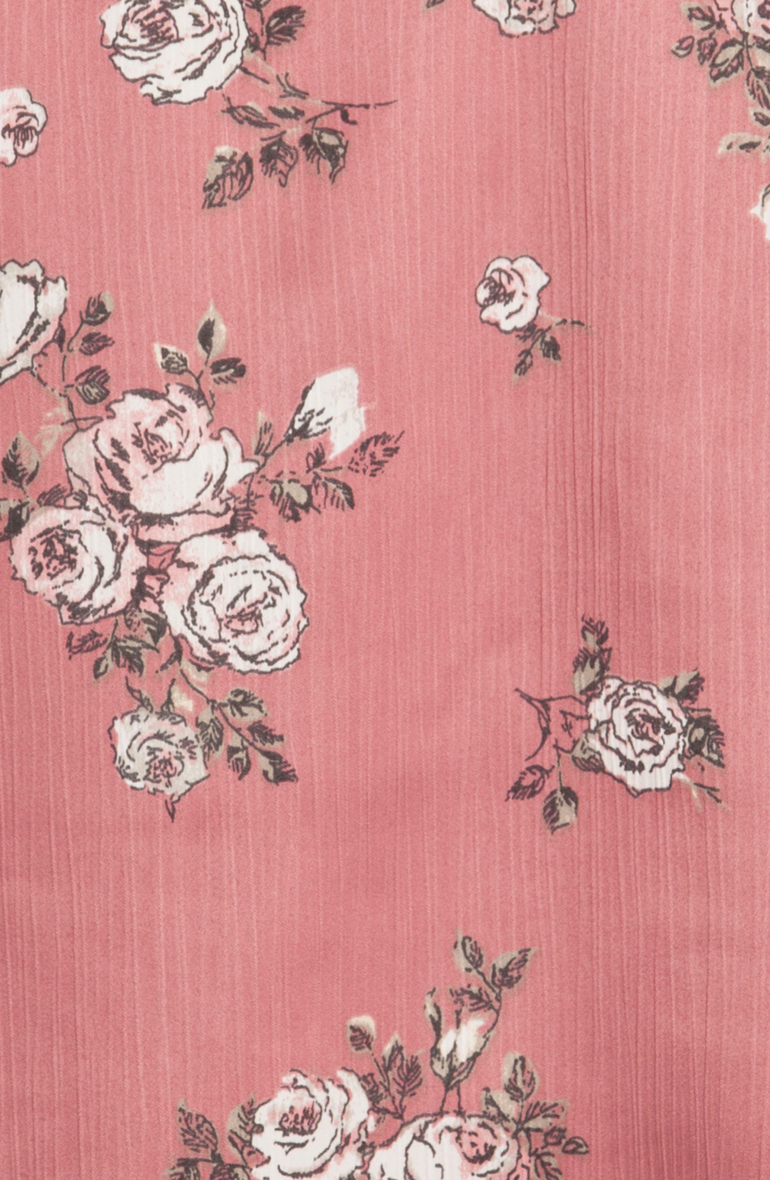 Tegan Short Pajamas,                             Alternate thumbnail 4, color,                             ROSE