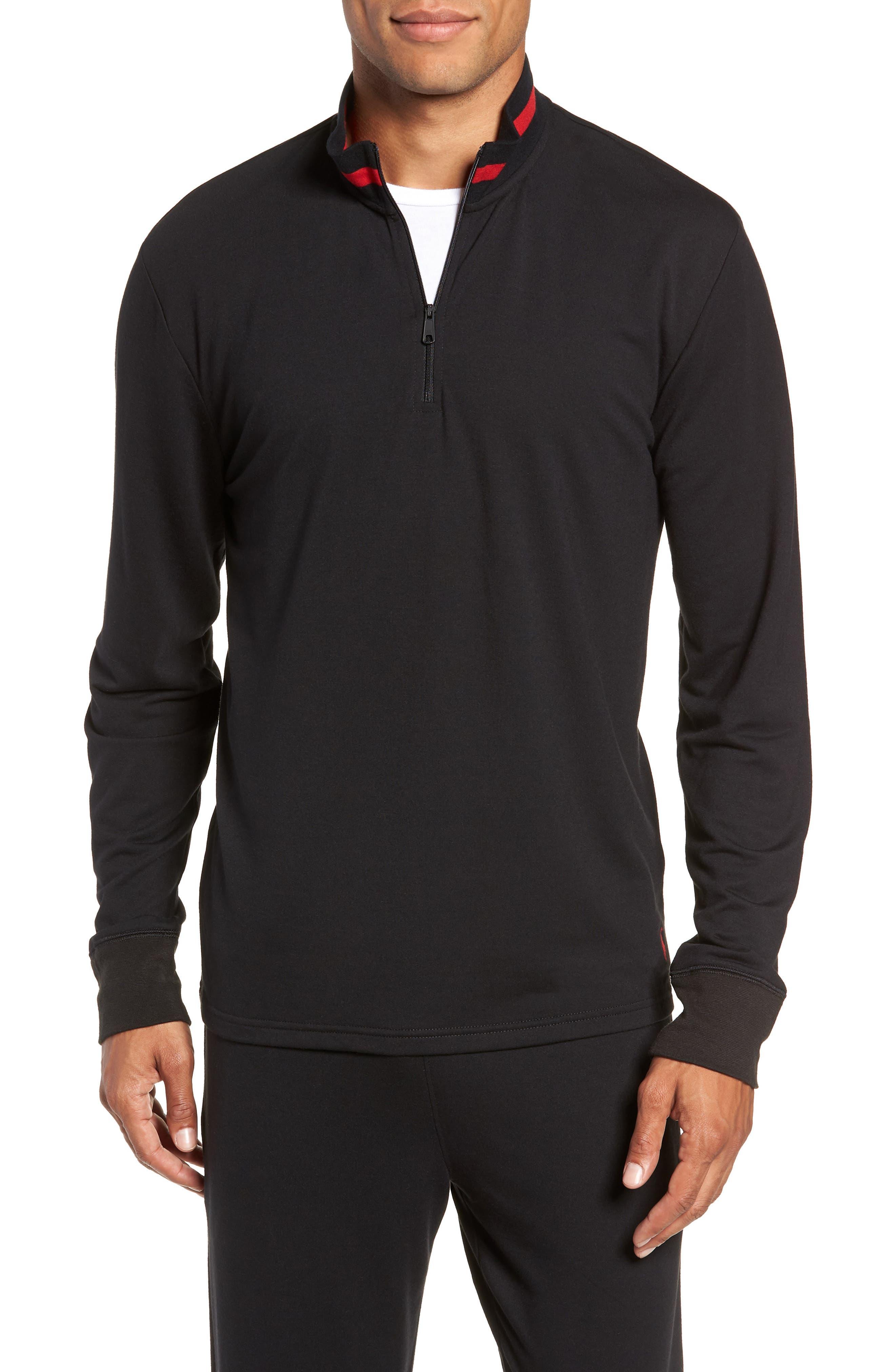 Half-Zip Pullover,                         Main,                         color, POLO BLACK
