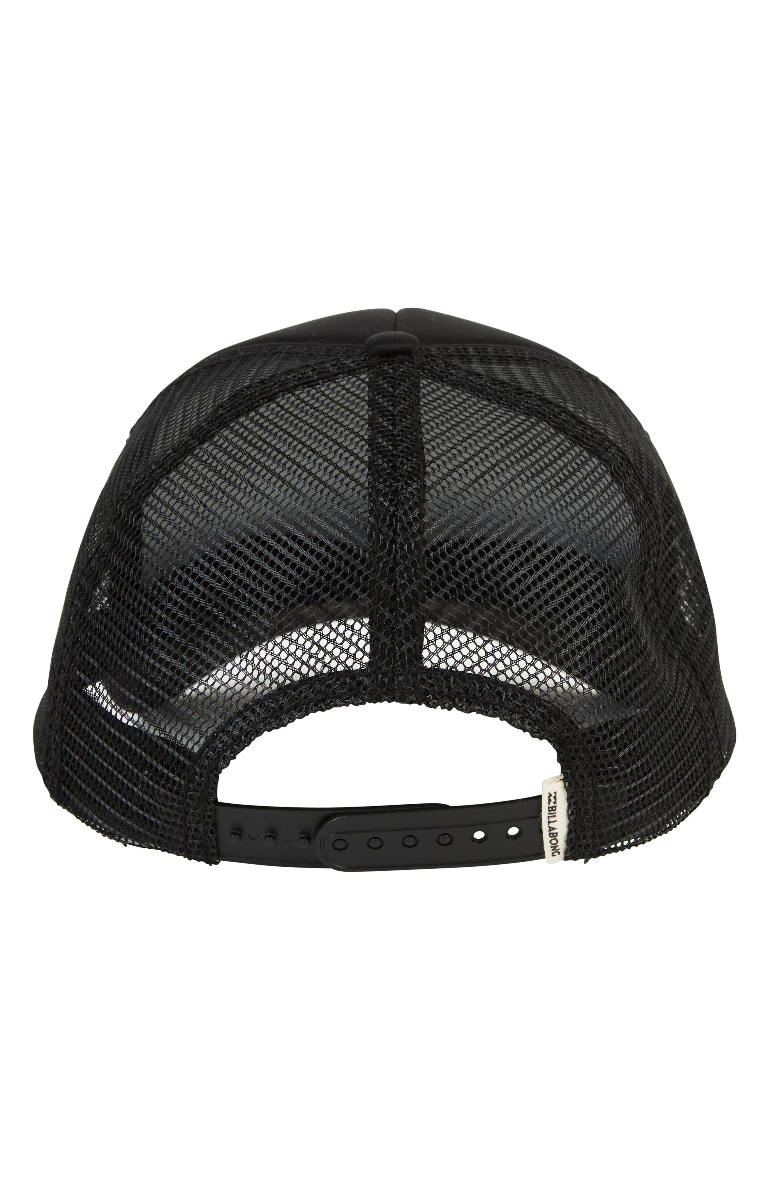 Across Waves Trucker Hat,                             Alternate thumbnail 2, color,                             BLACK