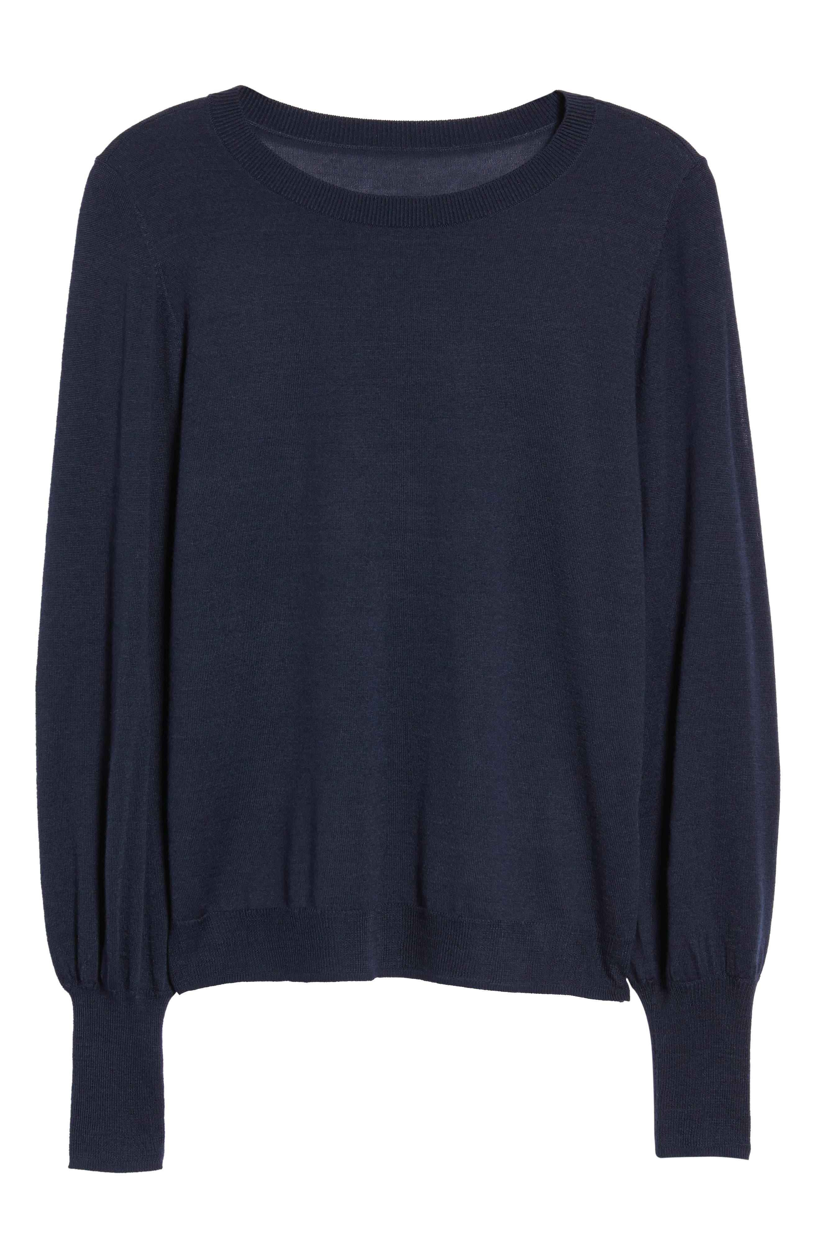 Puff Sleeve Sweater,                             Alternate thumbnail 56, color,