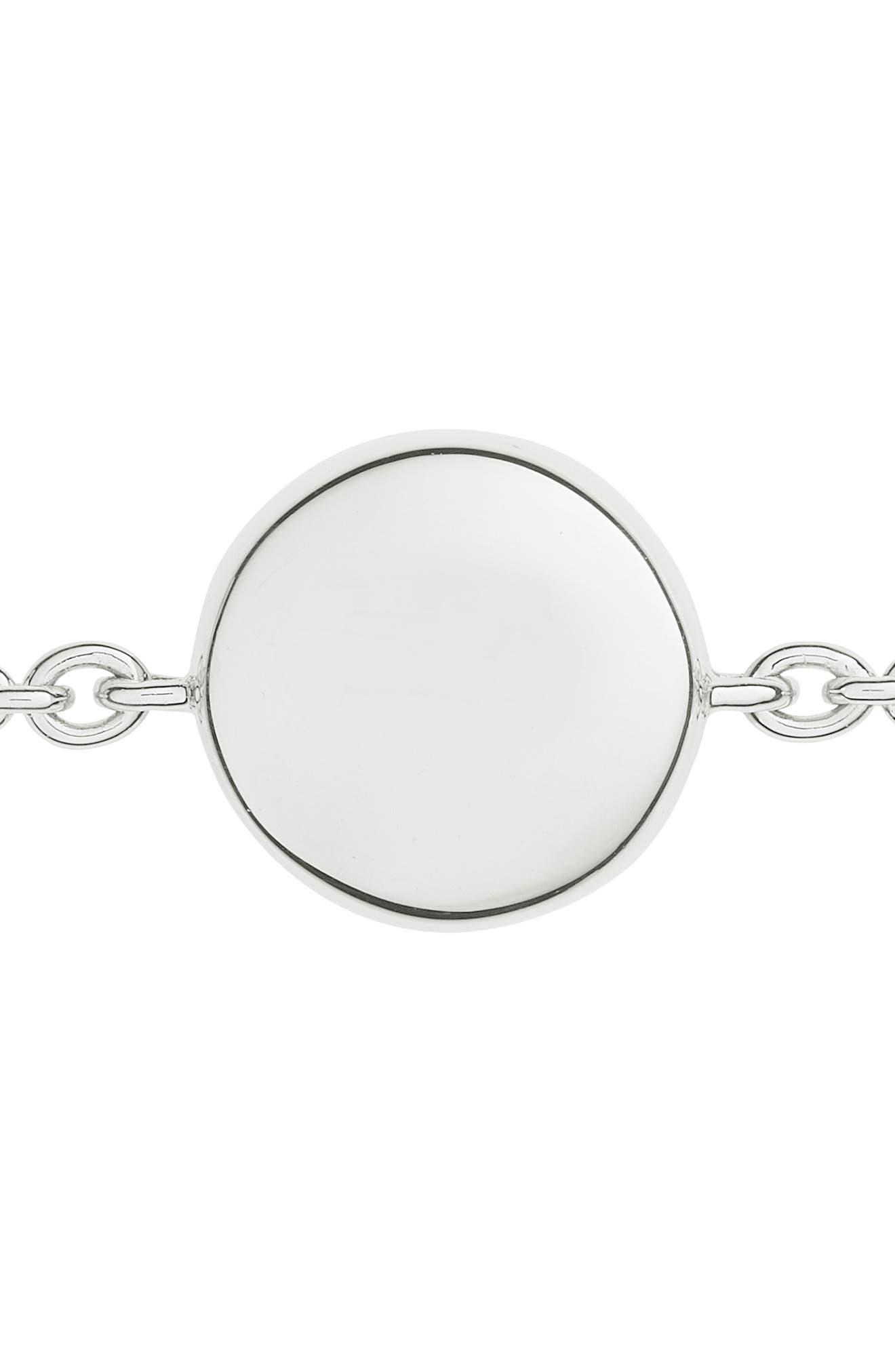 'Ava' Diamond Button Bracelet,                             Alternate thumbnail 3, color,                             SILVER